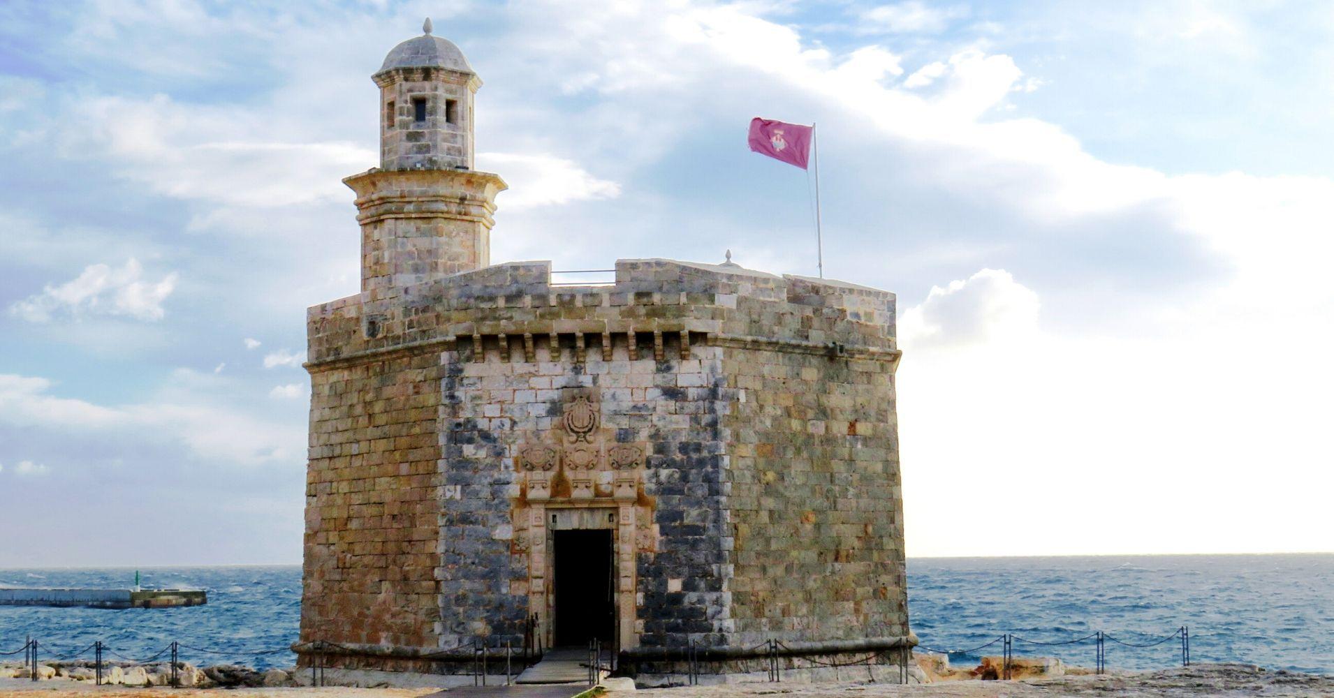 Castillo de Sant Nicolau, Menorca. Islas Baleares.