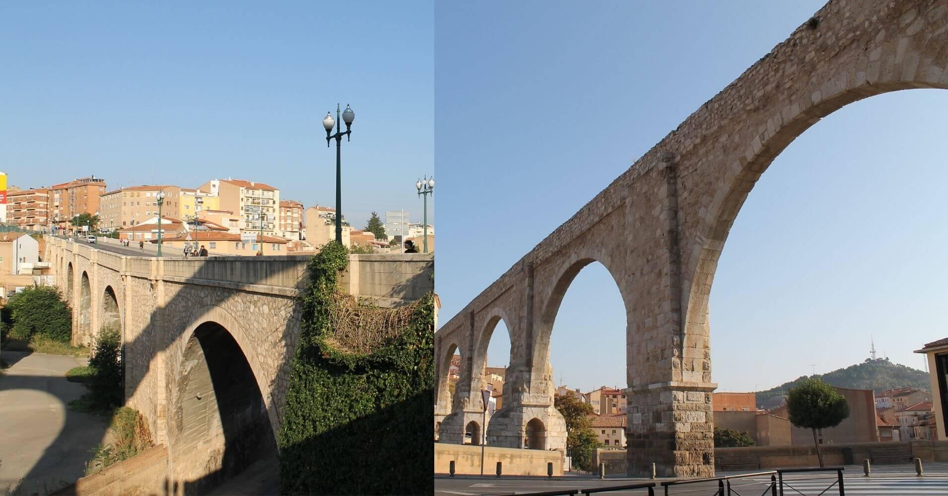 Acueducto de Los Arcos en Teruel. Aragón.