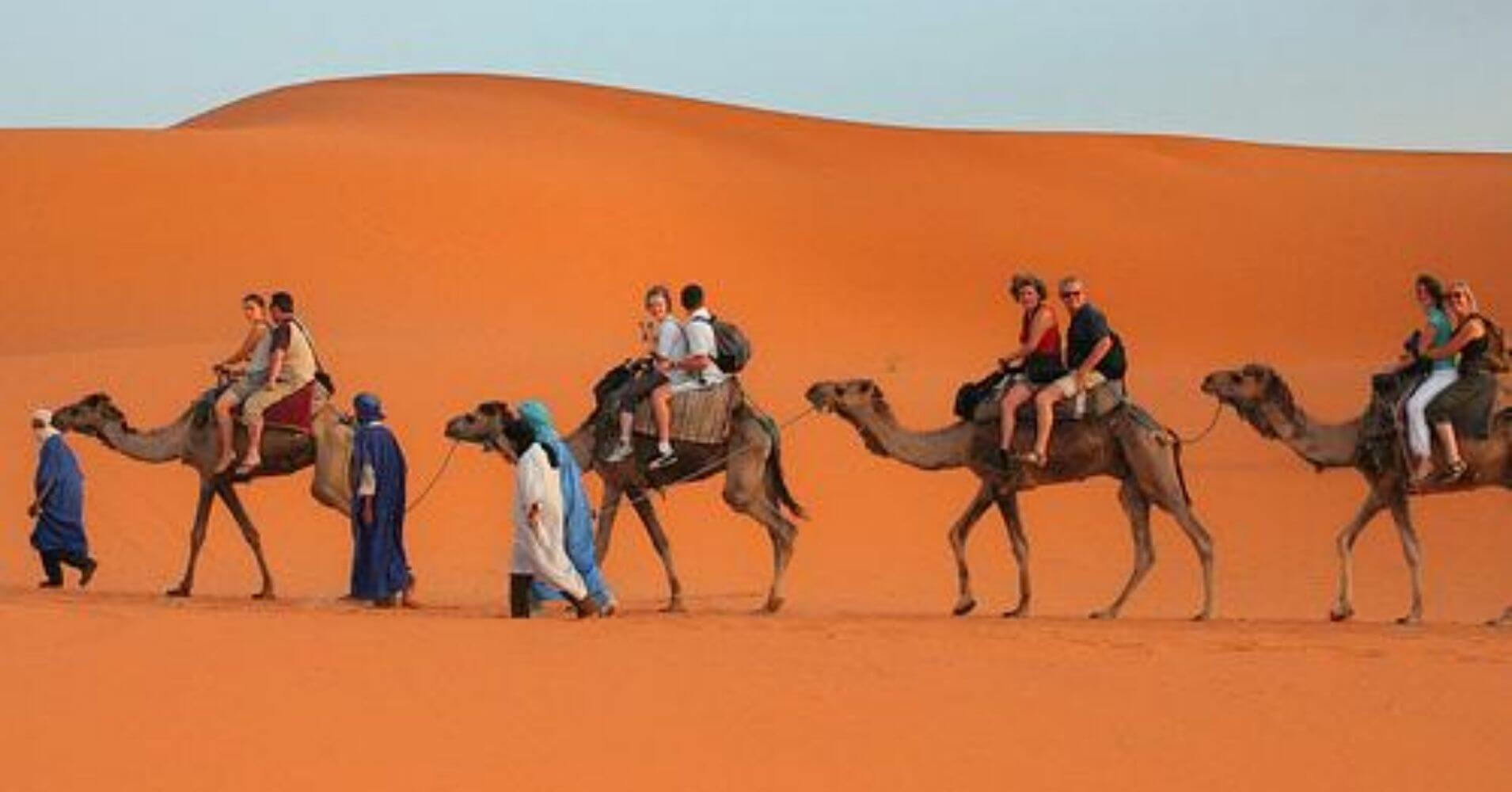 Aventuras en Marruecos. Caravana de Camellos por el Desierto.