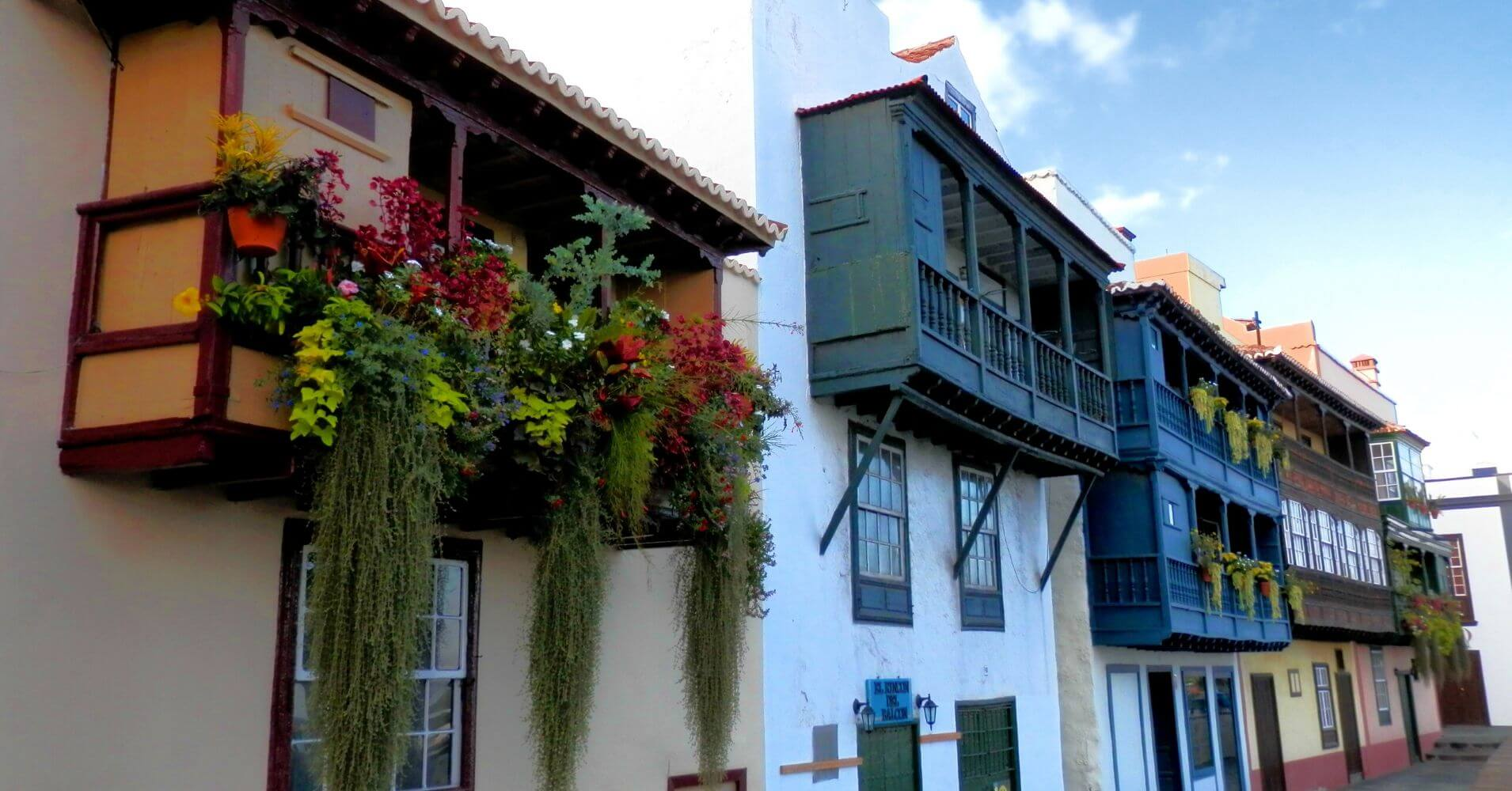Balcones Típicos de Santa Cruz de La Palma. Islas Canarias.