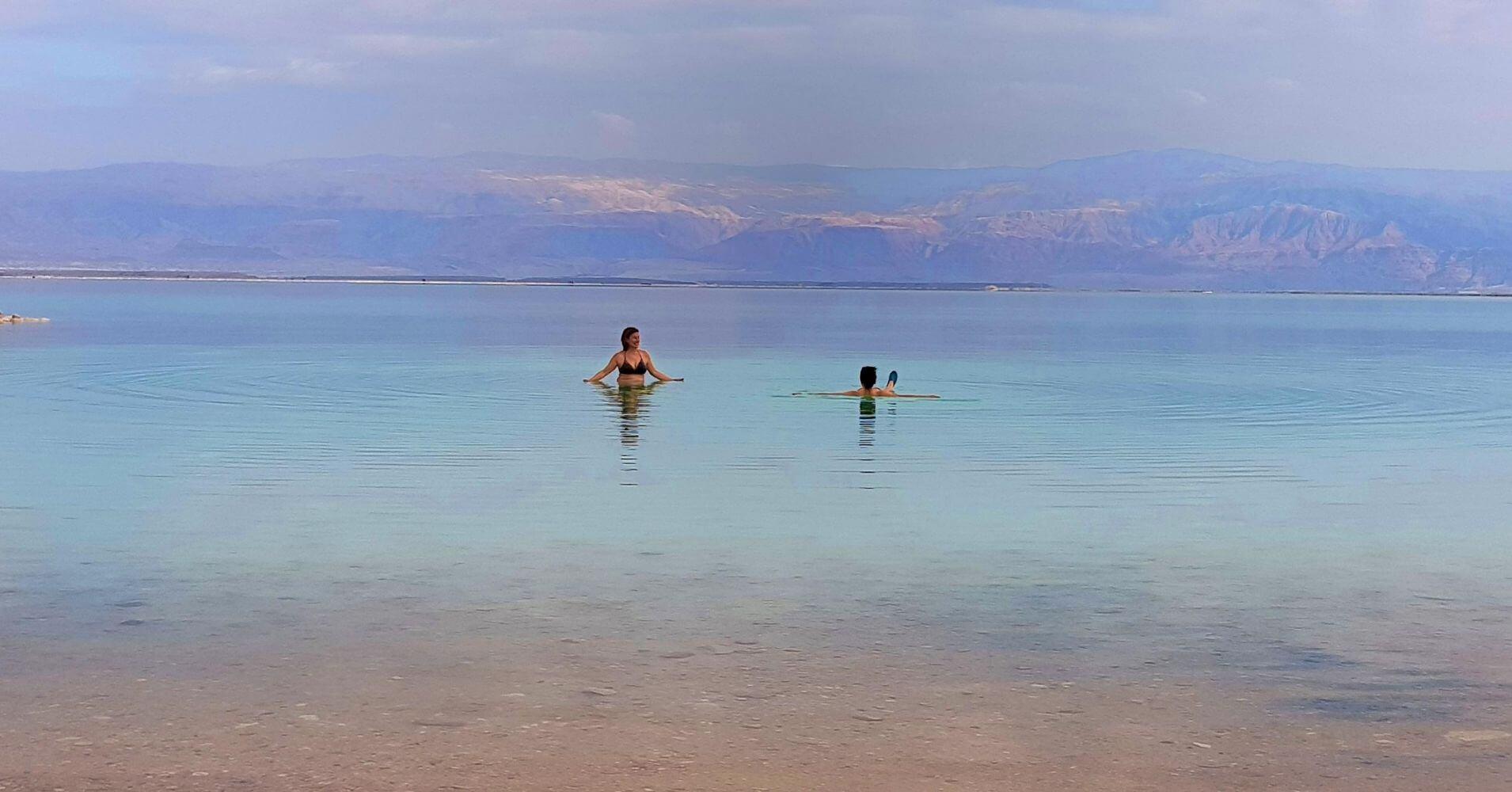 Baño en el Mar Muerto. Israel.