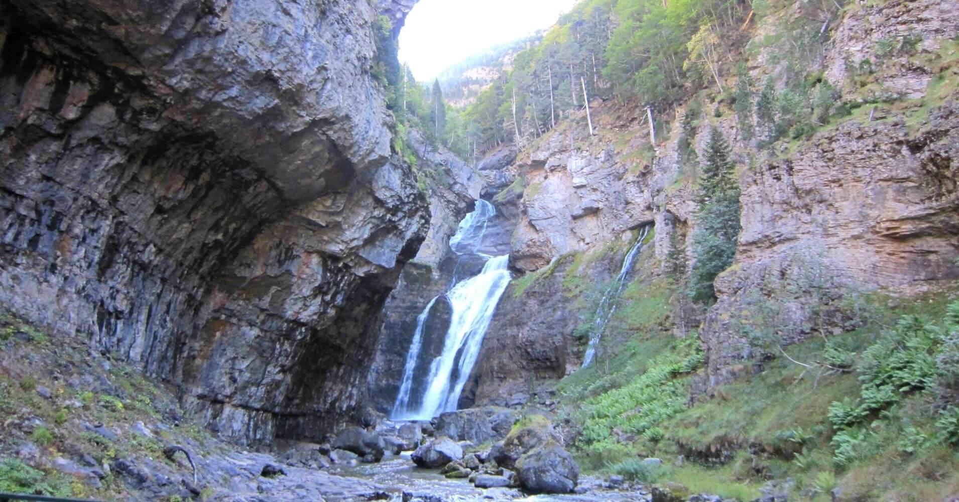 Cascada del Estrecho. Parque Nacional de Ordesa. Huesca.