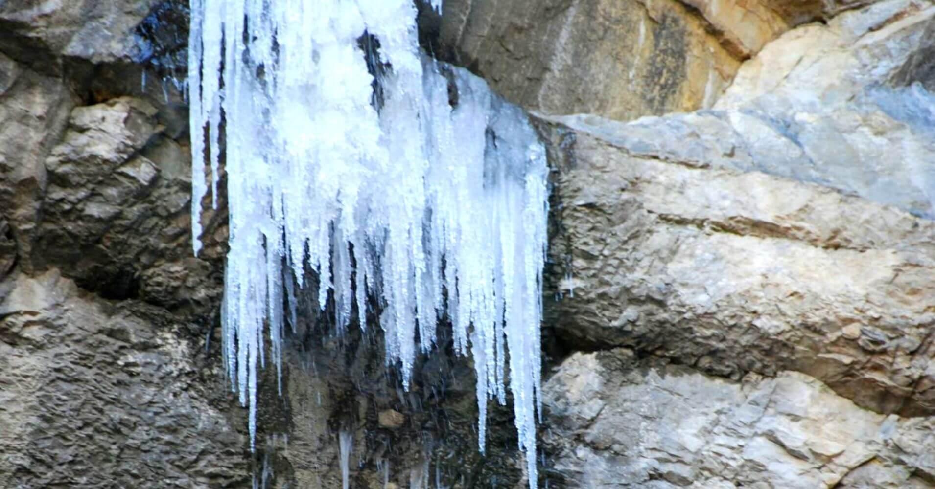Cascada del Gollorio en invierno. Pelegrina, Guadalajara. Castilla la Mancha.