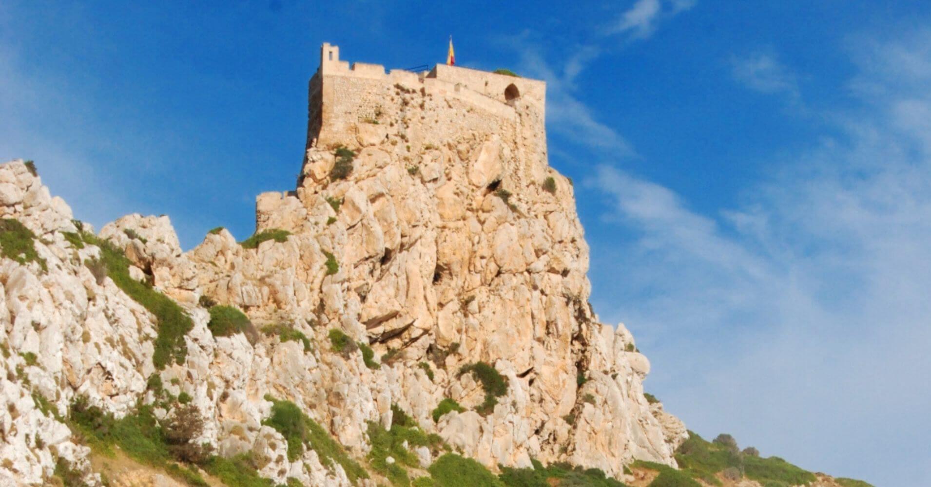 Castillo e Isla de La Cabrera. Baleares.