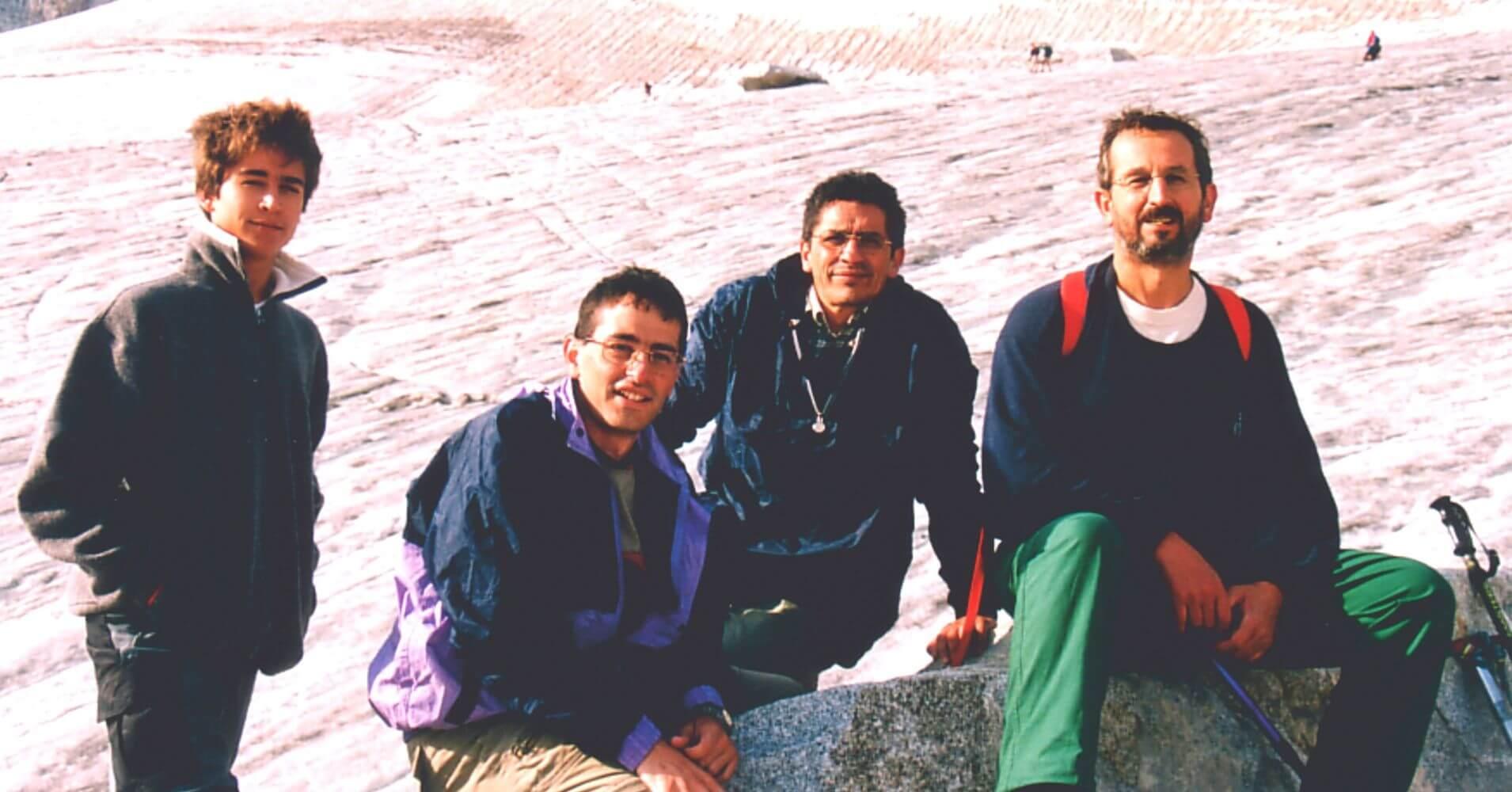 Componentes del Grupo Camino de la Cumbre del Pico Aneto. Benasque. Huesca, Aragón.