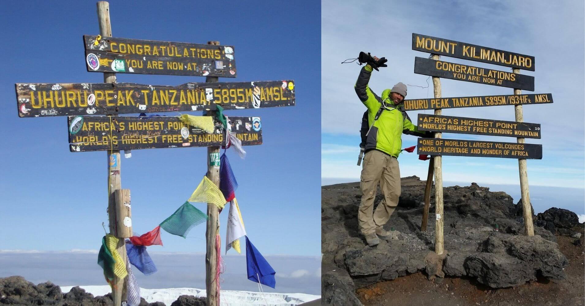 Cumbre del Monte Kilimanjaro. Tanzania.