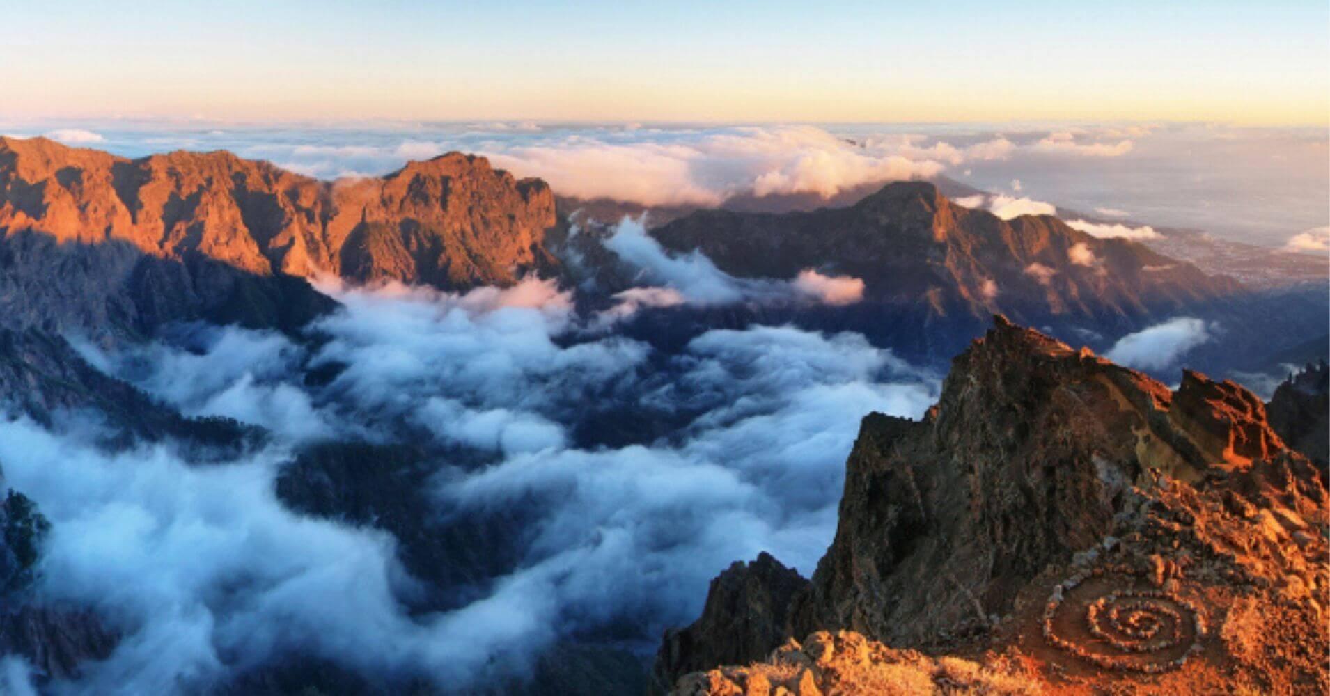 El Parque Nacional Caldera de Taburiente. Isla de La Palma, Canarias.