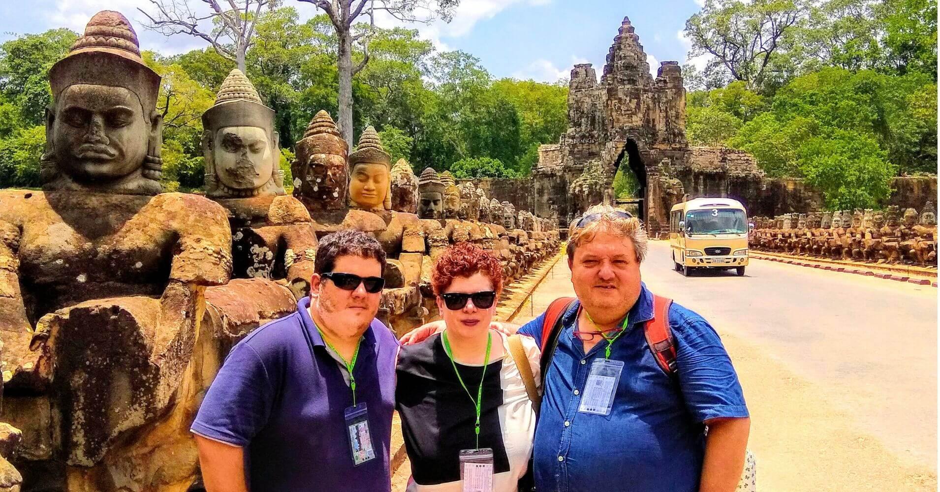 Entrada a la ciudad de Angkor Thom. Siem Reap. Camboya.