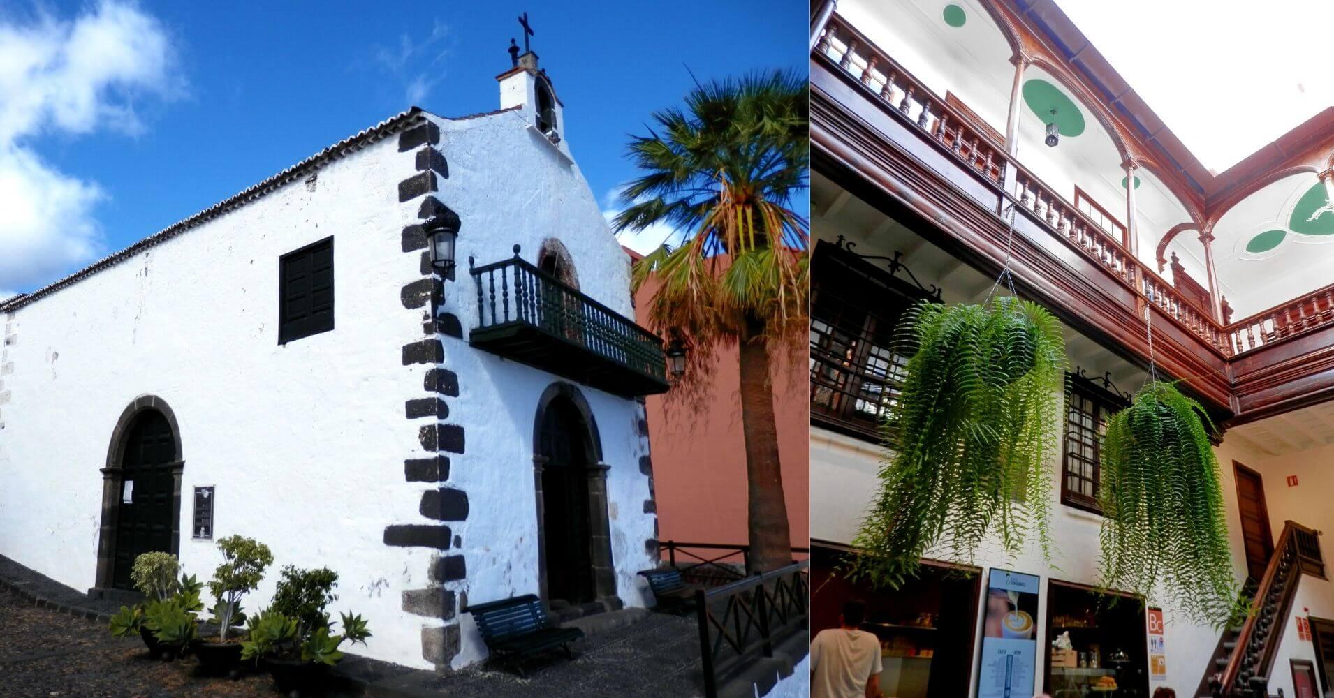 Ermita de San Telmo y Casa José Cabrera Martín. Sociedad Cosmologica. La Palma a Ritmo Lento. Santa Cruz de La Palma. Islas Canarias.