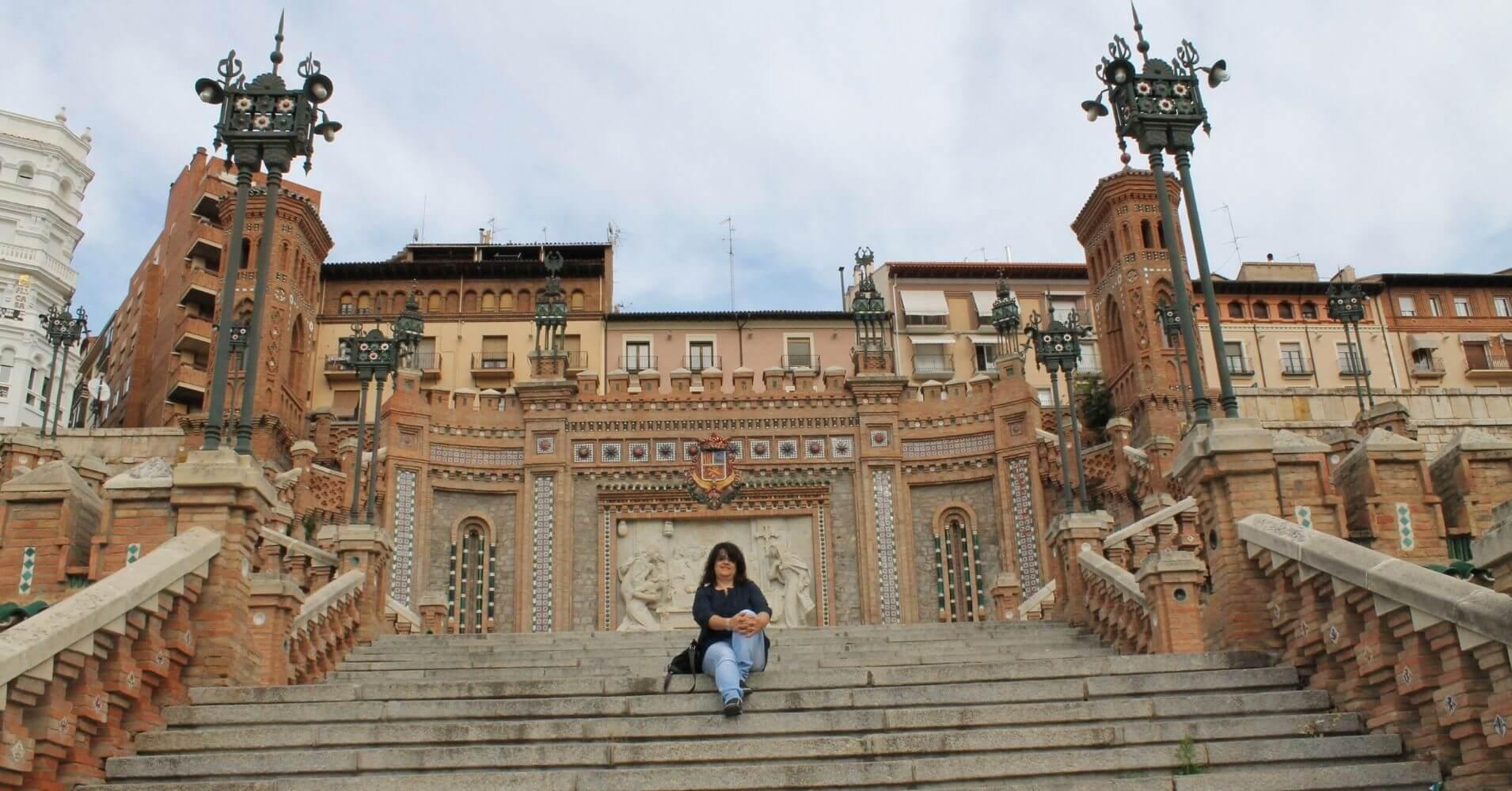 Escalinata Mudéjar de Teruel. Aragón.