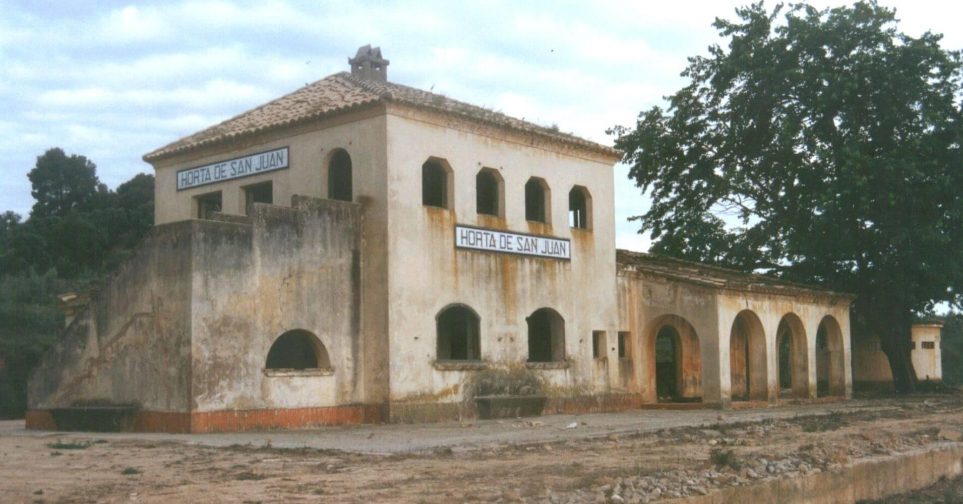 Vía Verde Terra Alta. Estación de Horta de San Juan. Tarragona, Catauña.