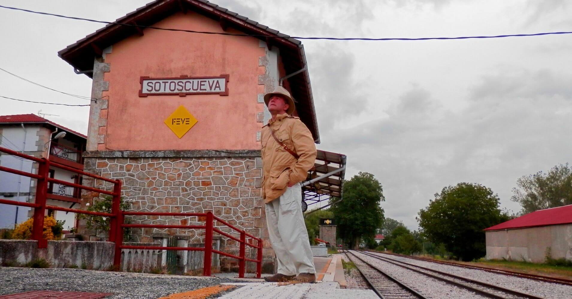 Estación de Sotoscuevas. Viaje en Tren en el Expreso de la Robla, Las Merindades, Burgos. Castilla y León.