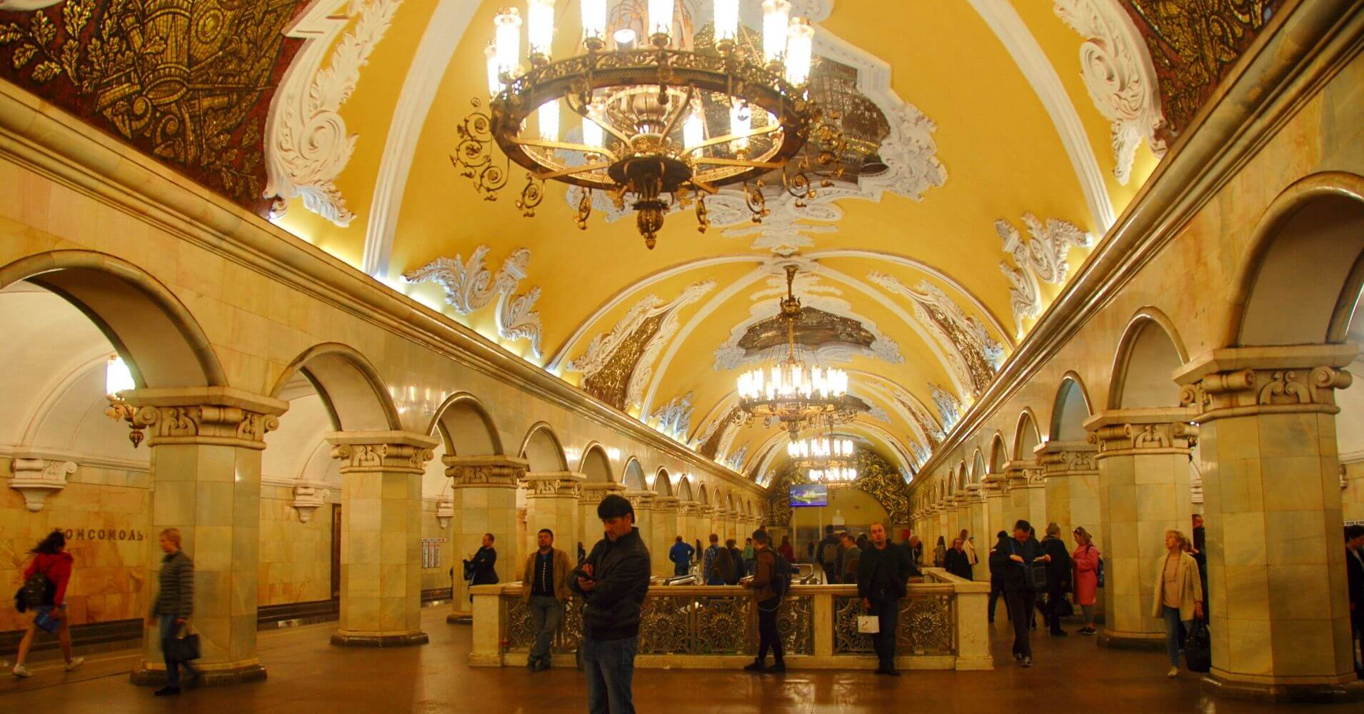 Estaciones del Metro de Moscú, Rusia.