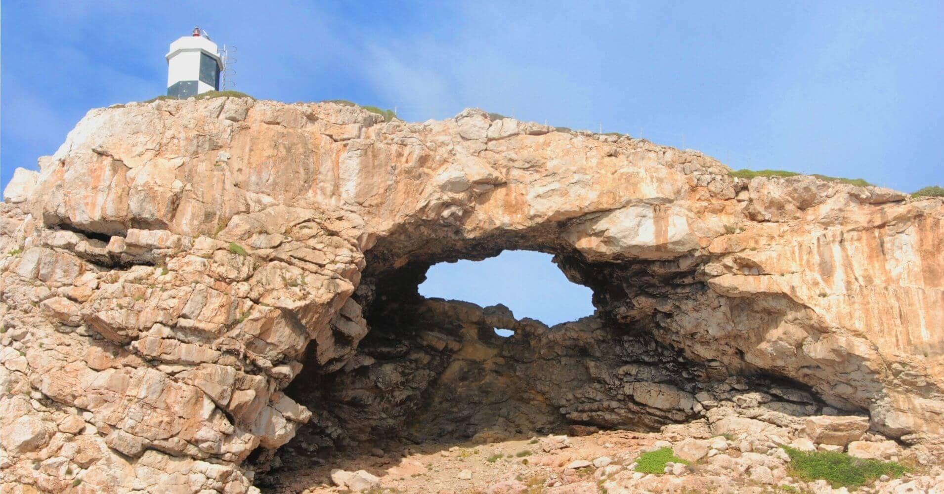 Faro del Parque Nacional Archipiélago de Cabrera. Islas Baleares.