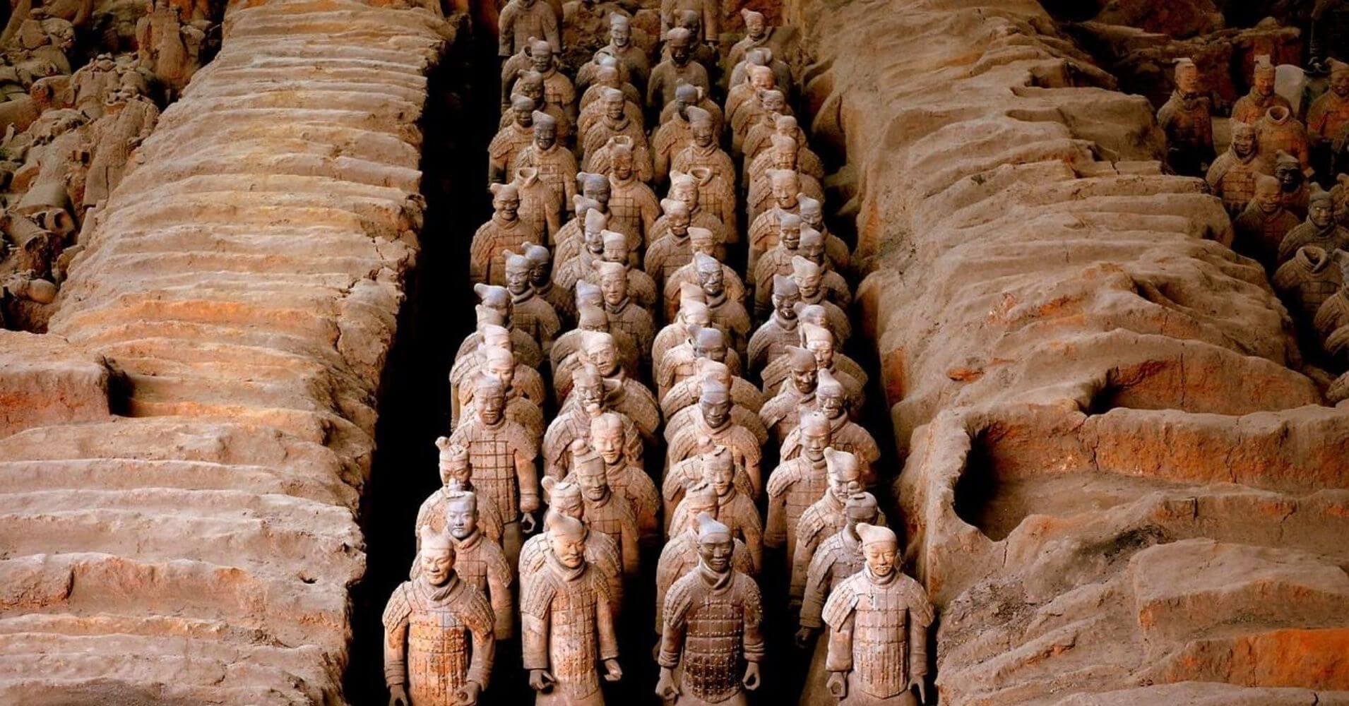 Guerreros de Terracota. Mausoleo de Gin Shi Huang. Xi'an.