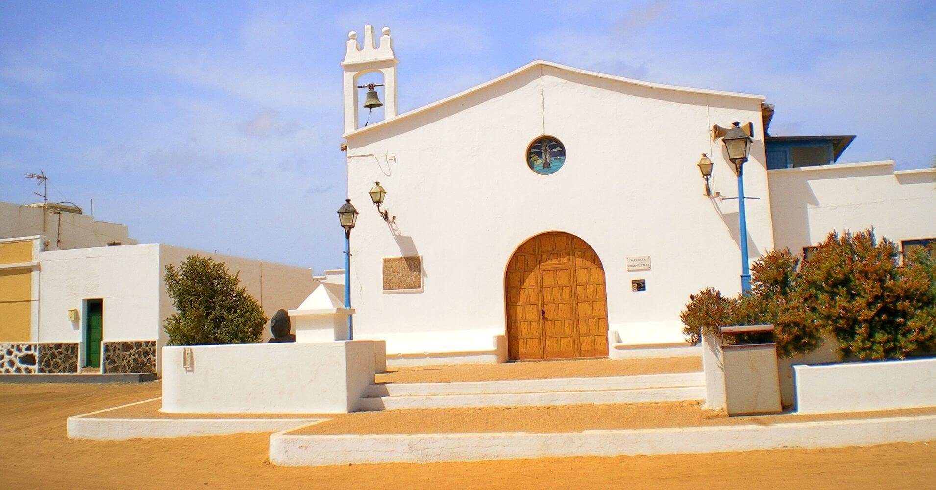 Iglesia de la Isla de la Graciosa. Lanzarote, Islas Canarias.