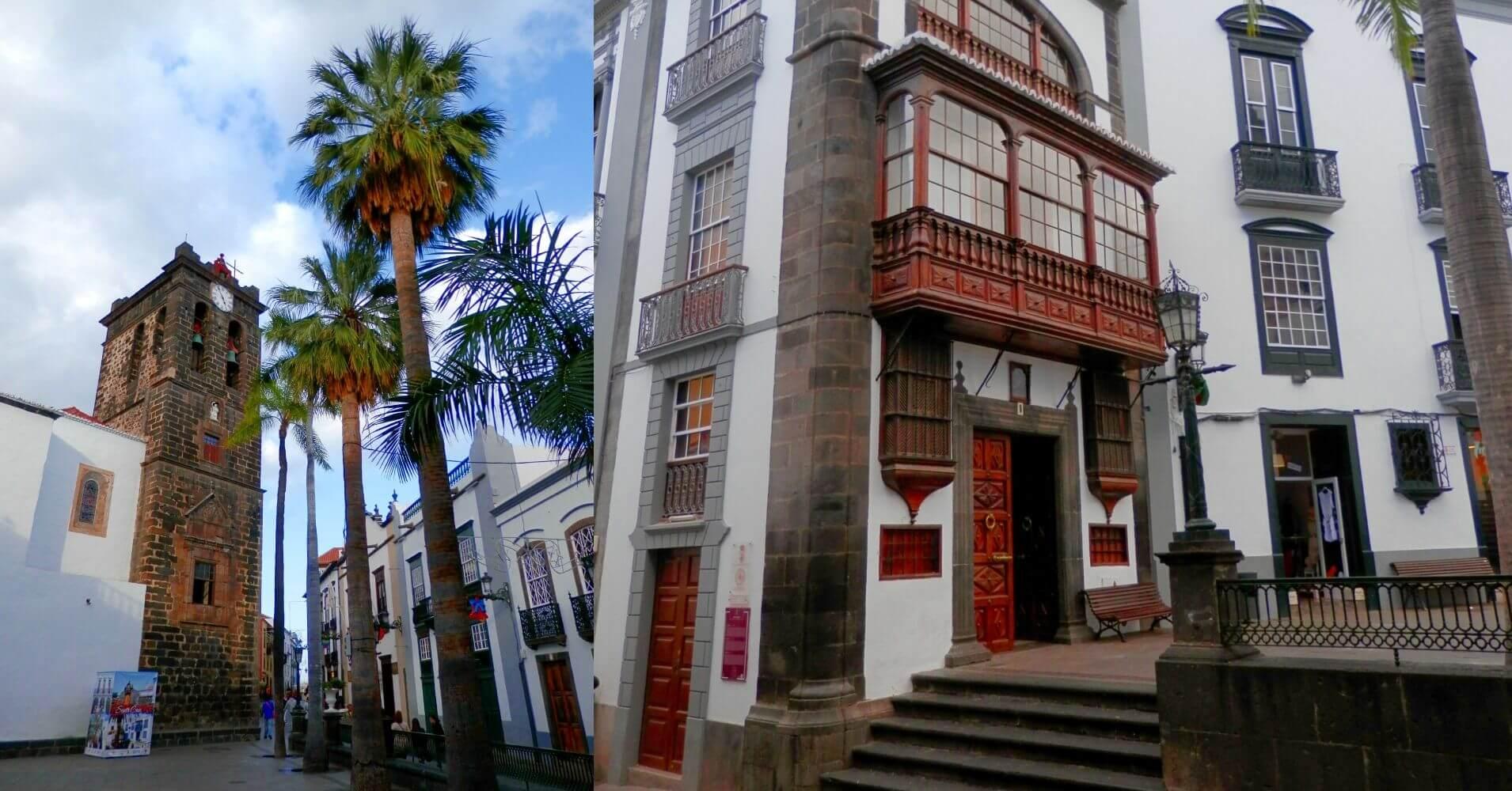 Iglesia de San Salvador y Casa Señorial Calle O' Daly. La Palma a Ritmo Lento. Santa Cruz de La Palma. Islas Canarias.