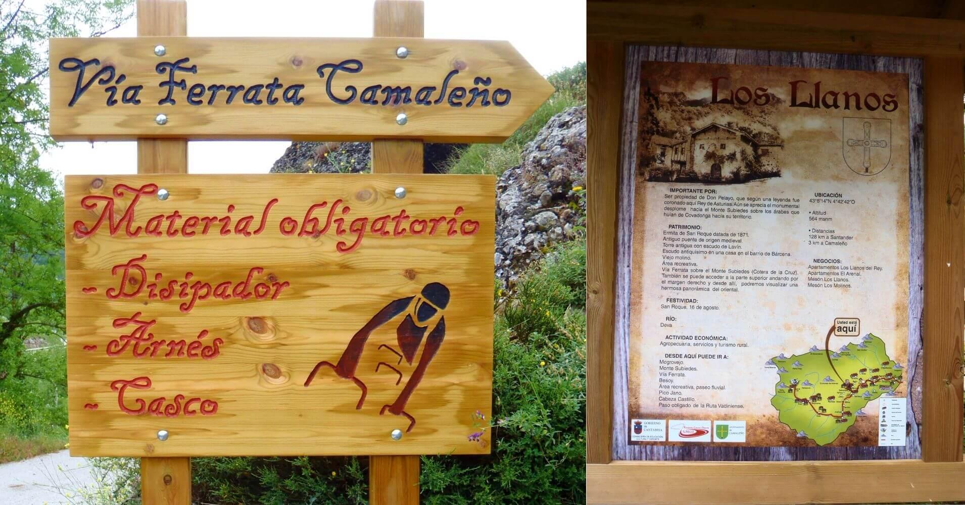 Ferrata de Camaleño. Los Llanos, Picos de Europa. Cantabria.