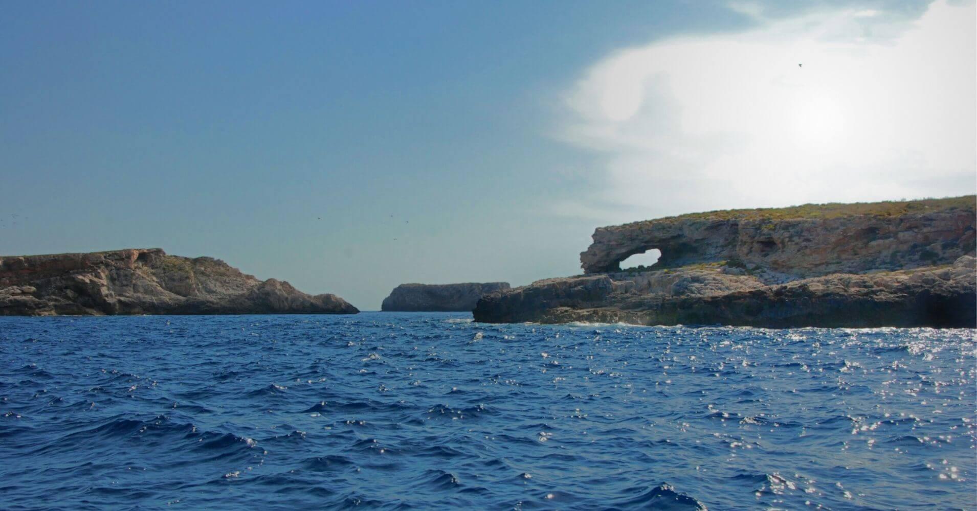 Islotes del Parque Nacional Archipiélago de Cabrera. Islas Baleares.