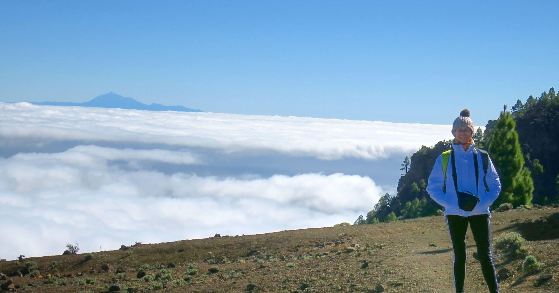 La Isla de la Palma en Invierno. Mar de Nubes, Isla de La Palma. Islas Canarias.