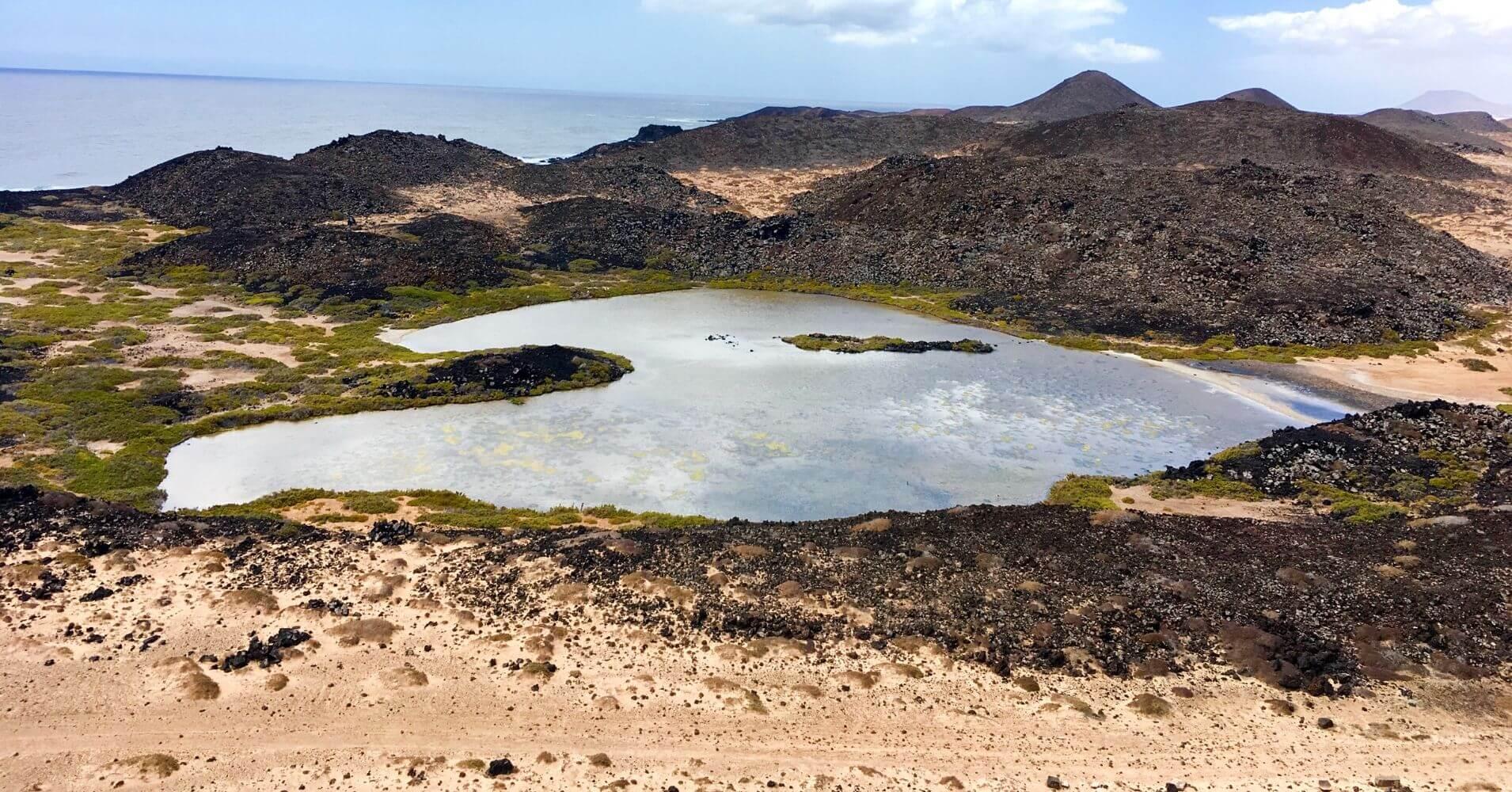Las Lagunitas. Isla de Los Lobos. Fuerteventura. Islas Canarias.