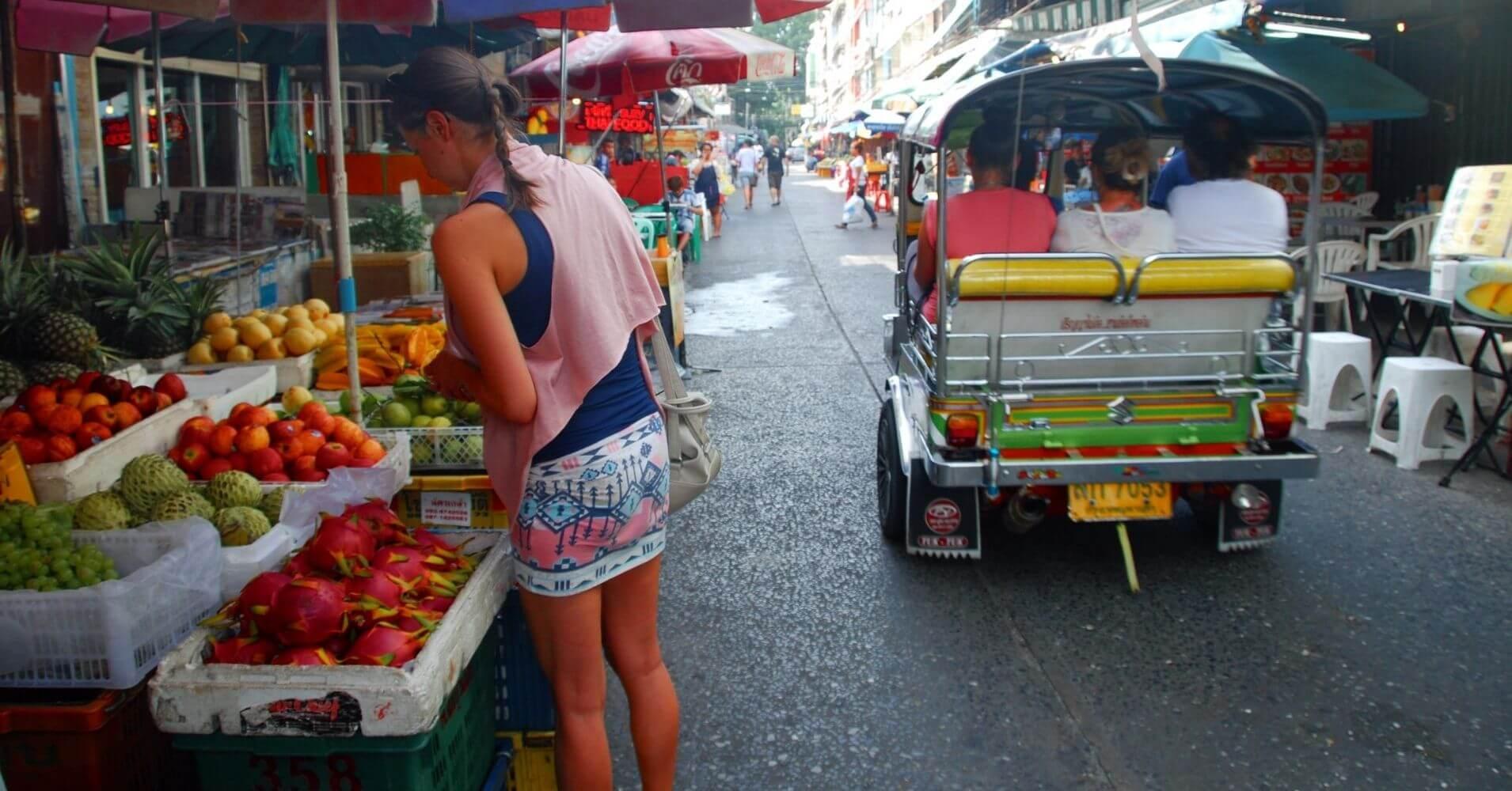 Mercado de Bangkok. Tailandia.