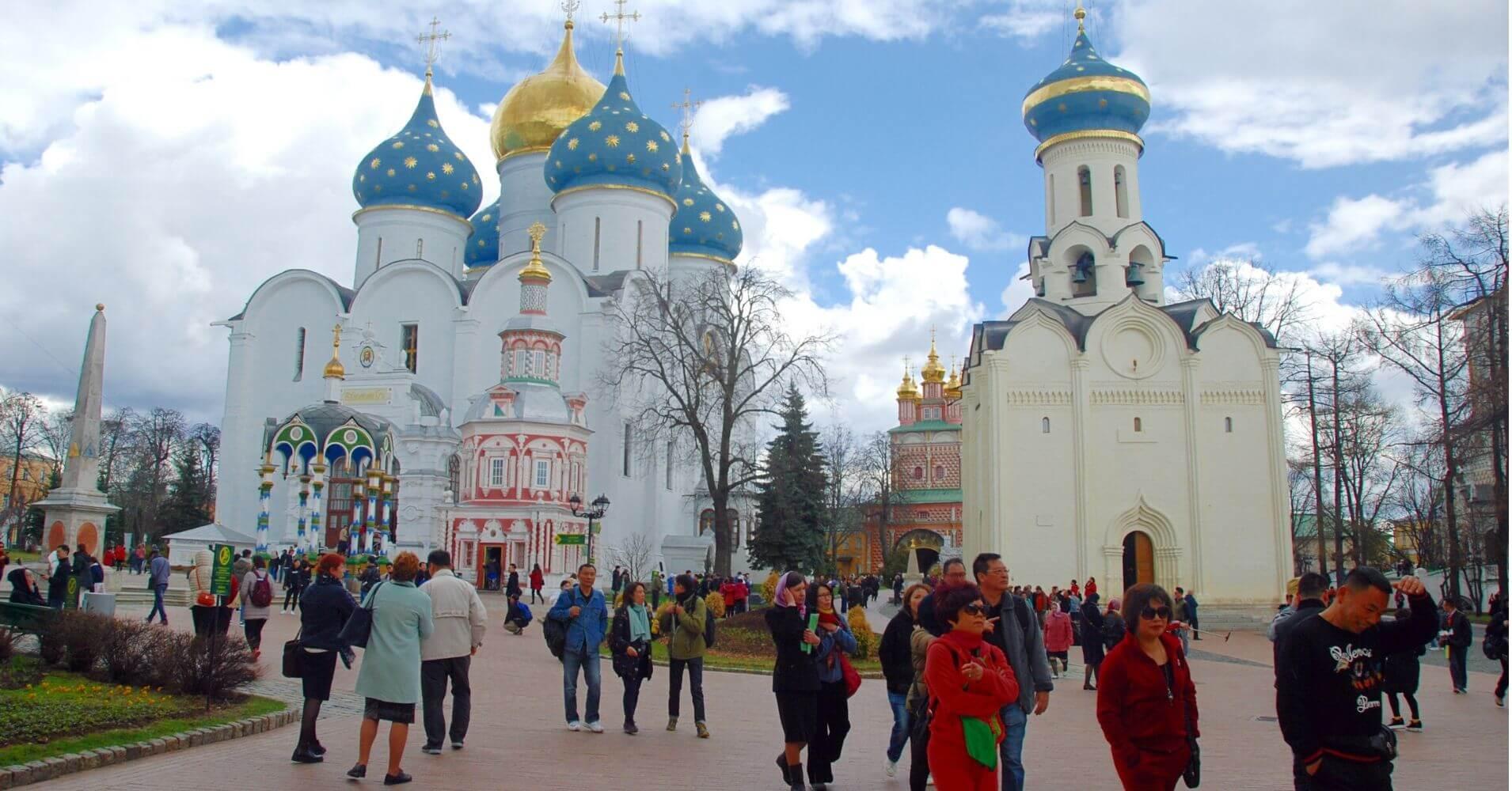 Monasterios de Sergiev Posad, Rusia.