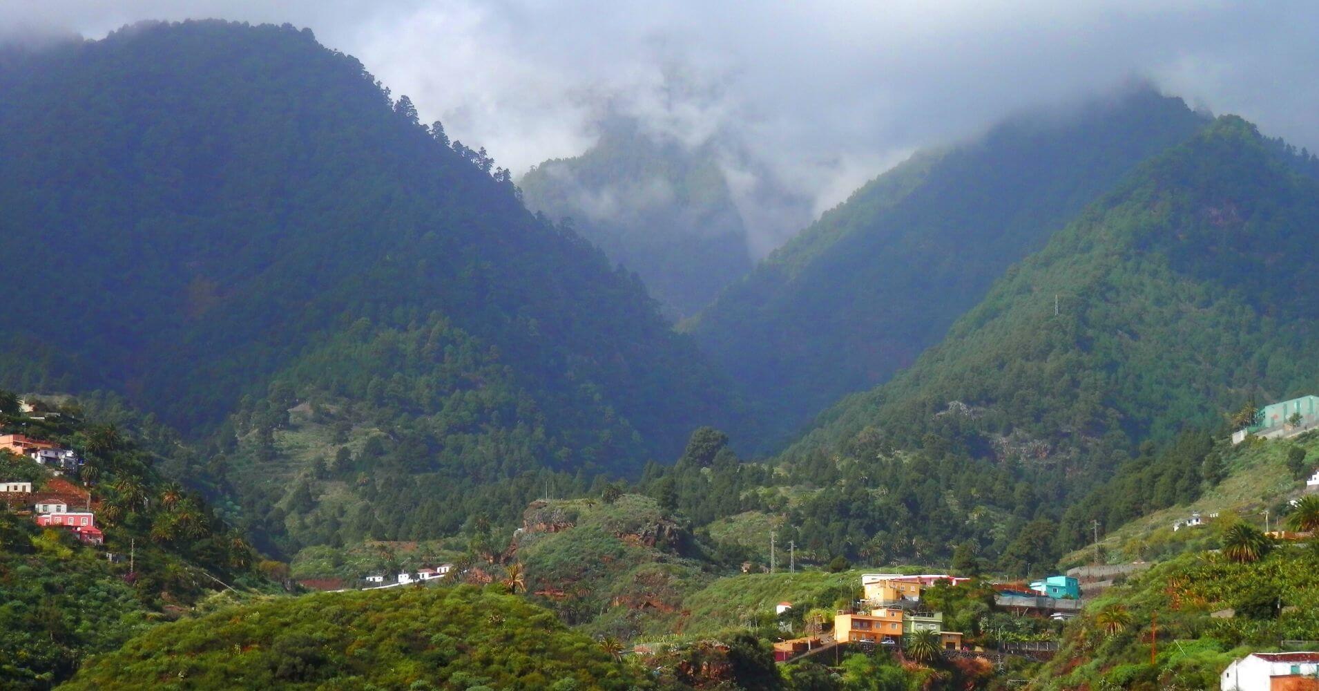 Montañas de la Isla de la Palma. Islas Canarias.