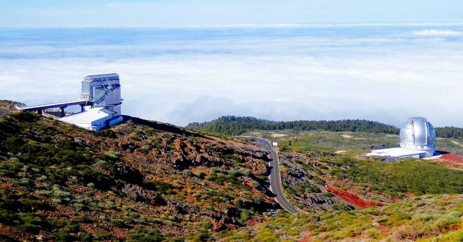 Observatorios Galileo y Canarias. La Palma a ritmo lento. Isla de La Palma. Islas Canarias.