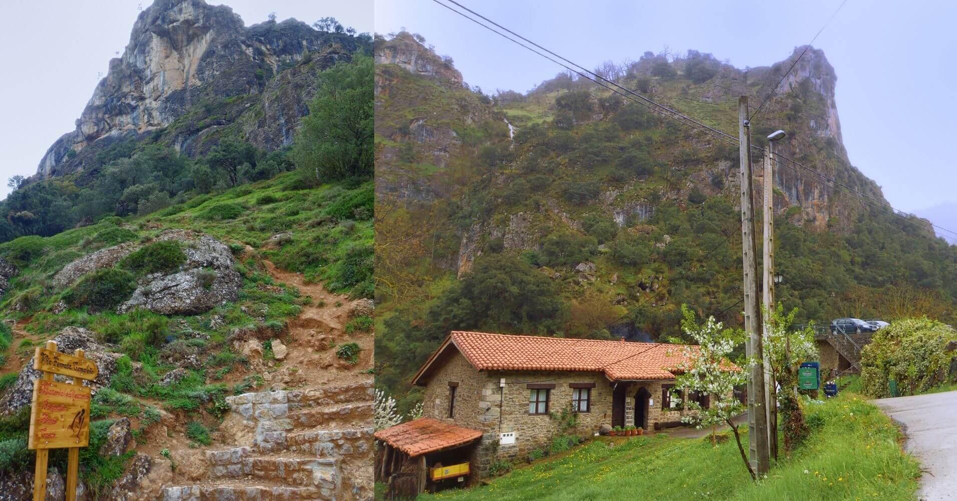 Panorámica de la Ferrata de Camaleño. Los Llanos, Picos de Europa. Cantabria.