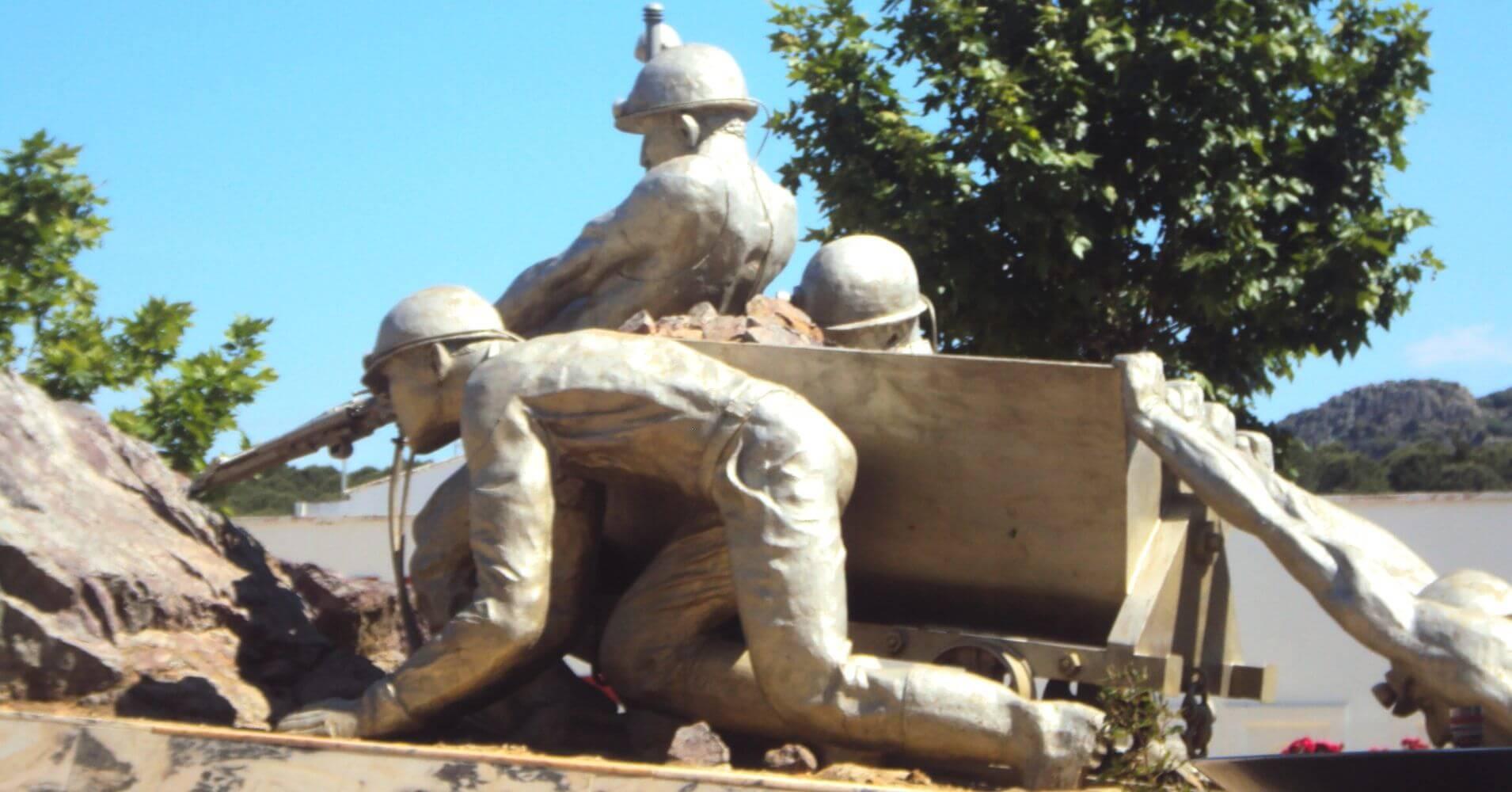 Monumento al Minero. Parque Minero de Almadén. Ciudad Real, Castilla la Mancha.