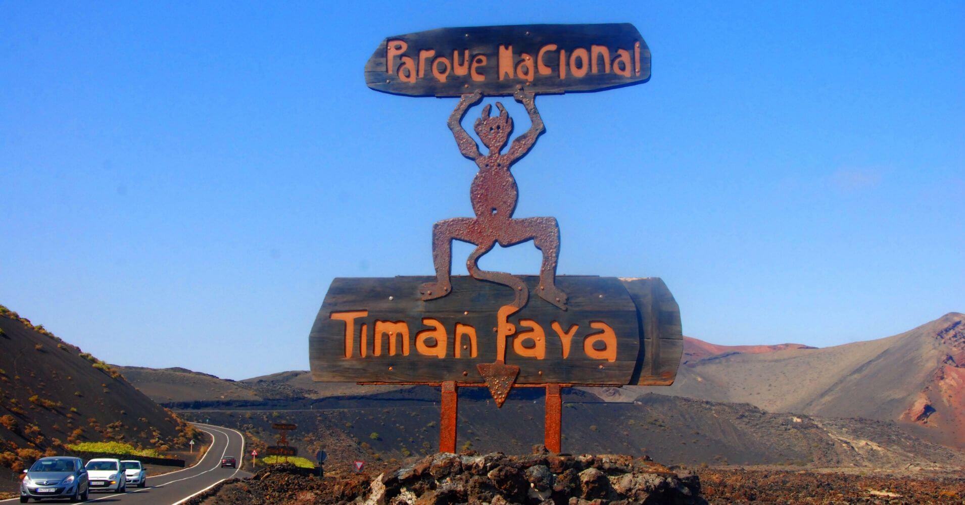 Parques Nacionales de Canarias. Parque Nacional de Timanfaya, Isla de Lanzarote. Islas Canarias.