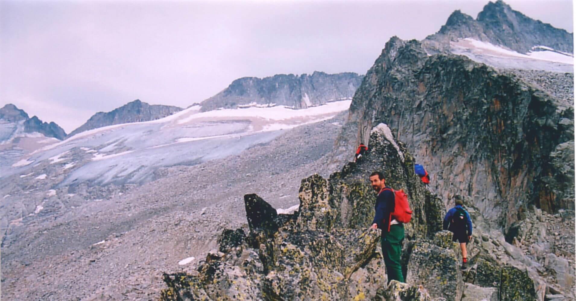 Paso de Mahoma. Cumbre del Pico Aneto, benasque, Huesca. Aragón