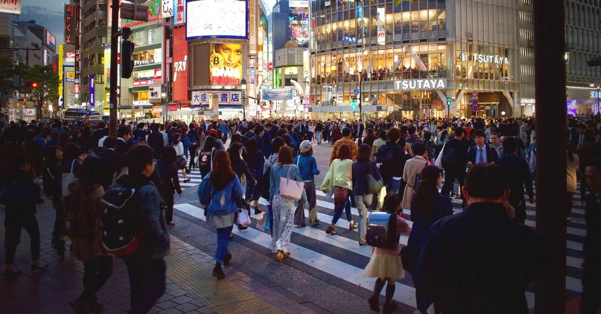Paso de Peatones de Shibuya. Tokyo,