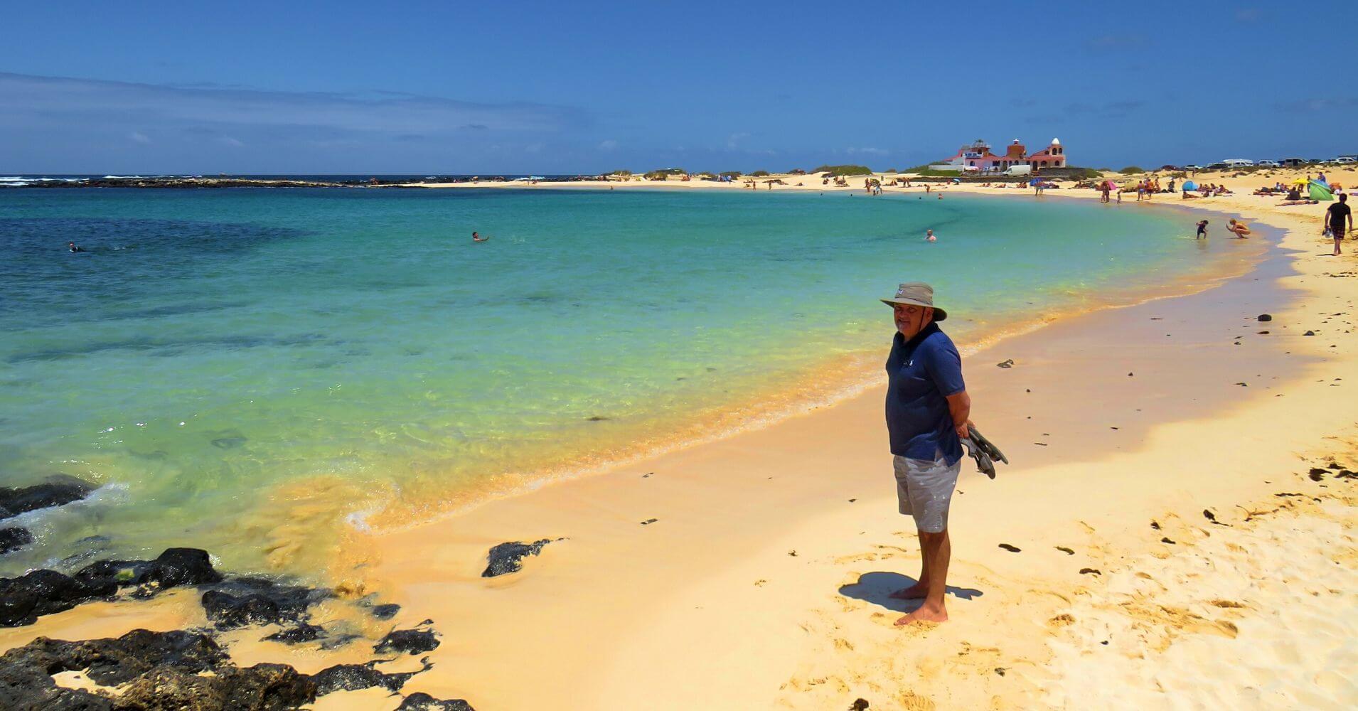 Playa de la Concha. Isla de Fuerteventura. Islas Canarias.
