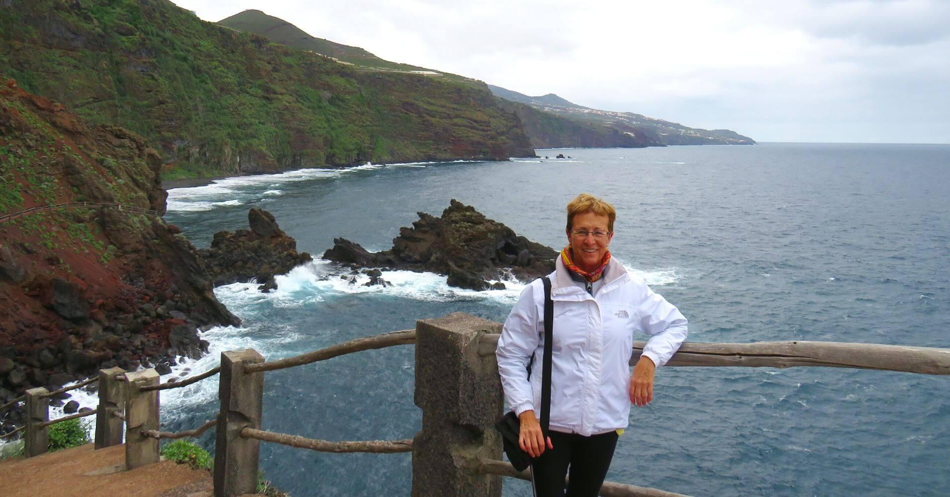 Playa Nogales. Isla de la Palma en Invierno. Islas Canarias.