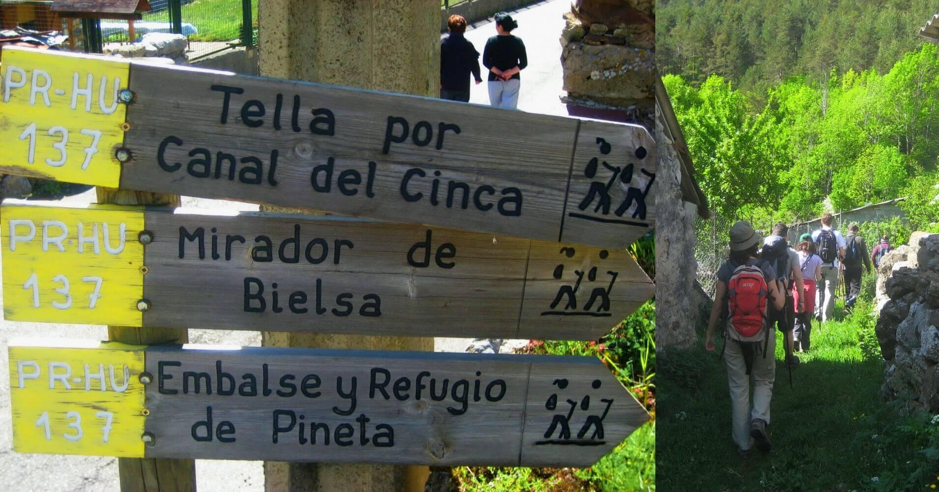 PR HU 137 Bielsa Tella Canal del Cinca. Huesca, Aragón.
