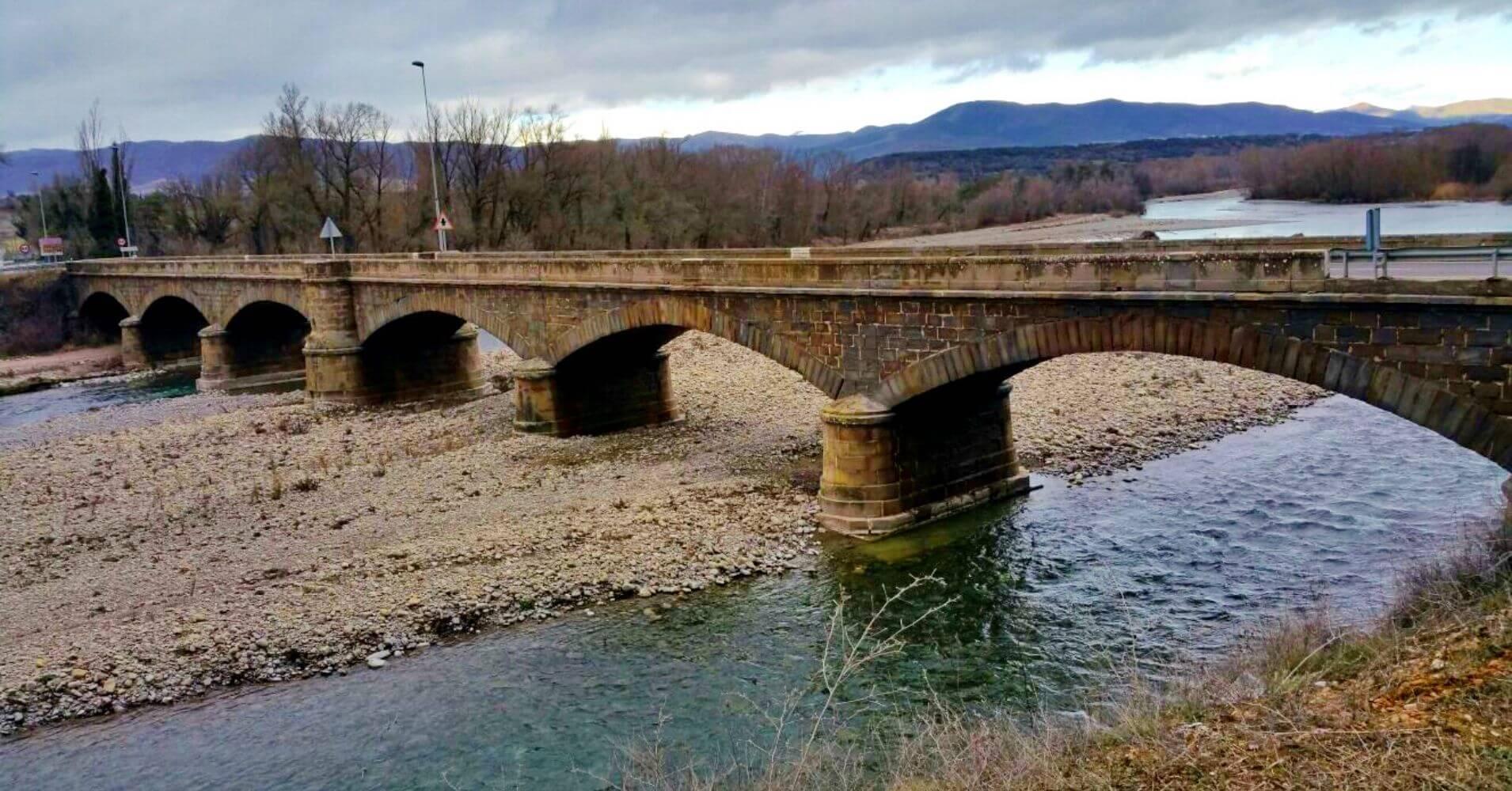 Puente de la Reina de Jaca. Camino Santiago Aragonés 2. Huesca, Aragón.