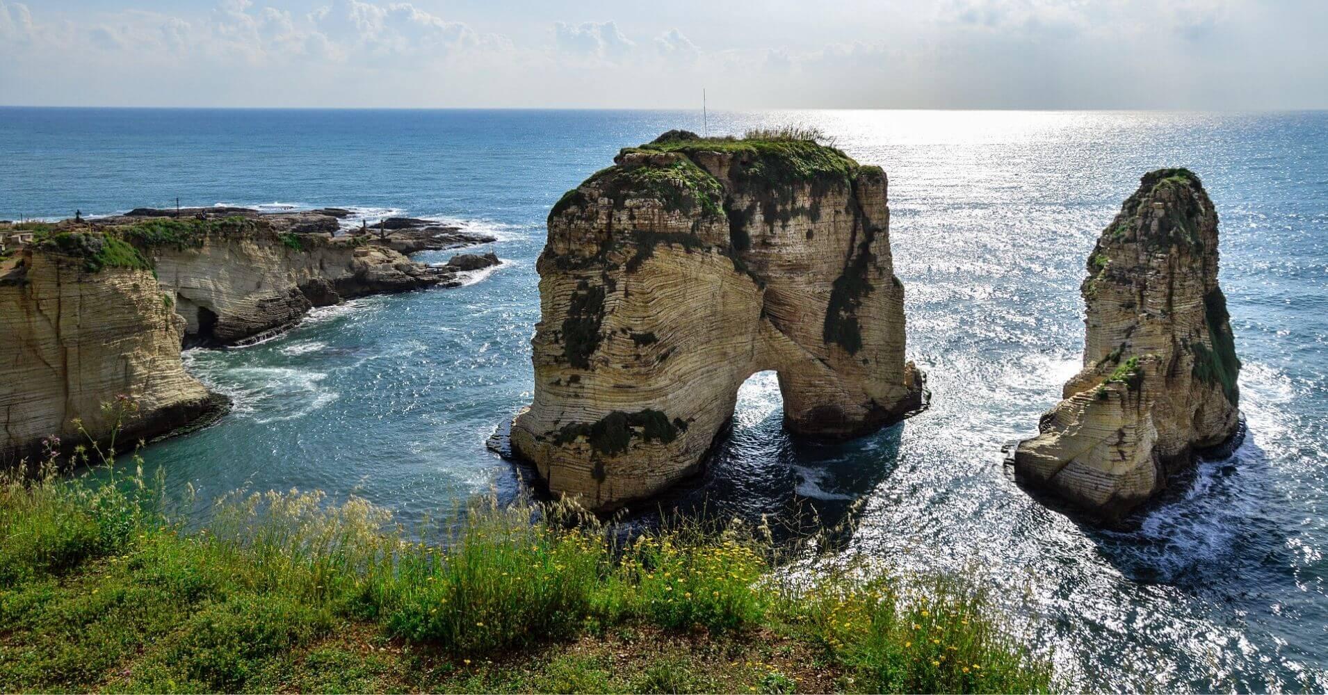 Rocas de Rauche. Beirut, Líbano.