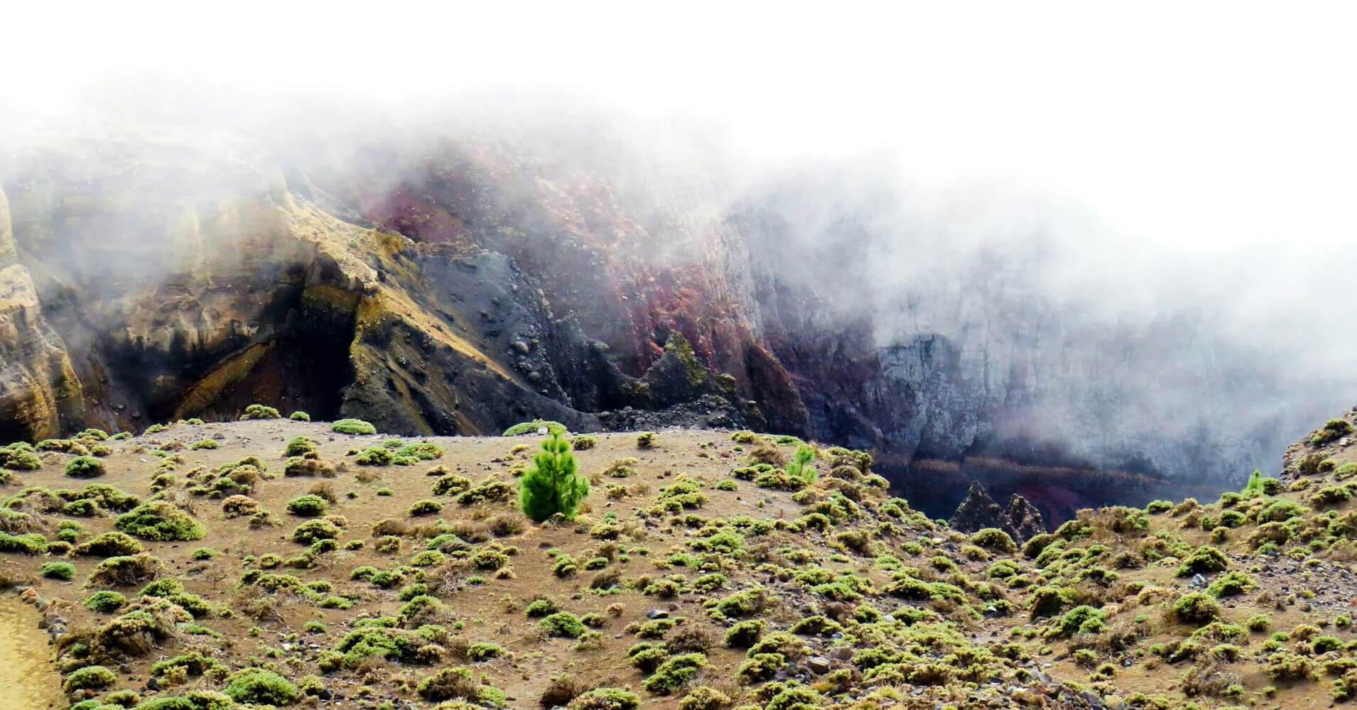 Roque de los Muchachos. Isla de La Palma en Invierno. Islas Canarias.