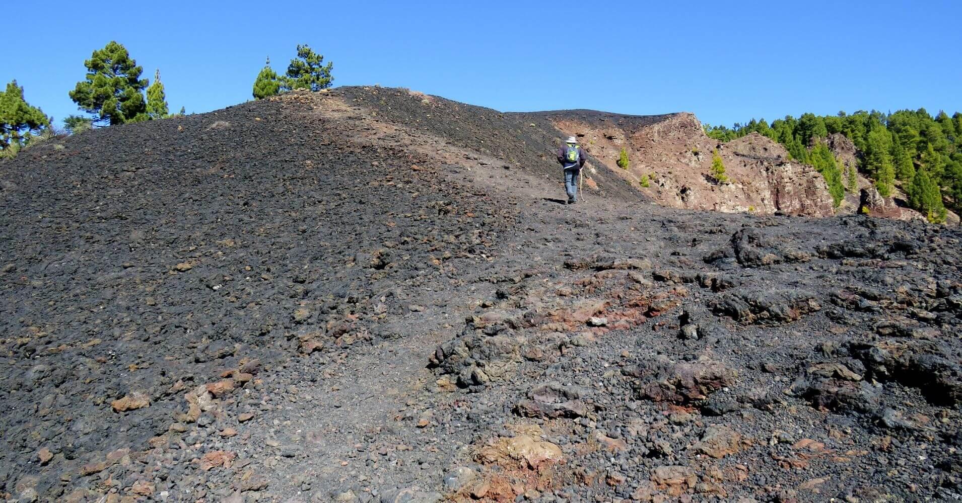 Ruta de los Volcanes. Isla de La Palma en Invierno. Islas Canarias.