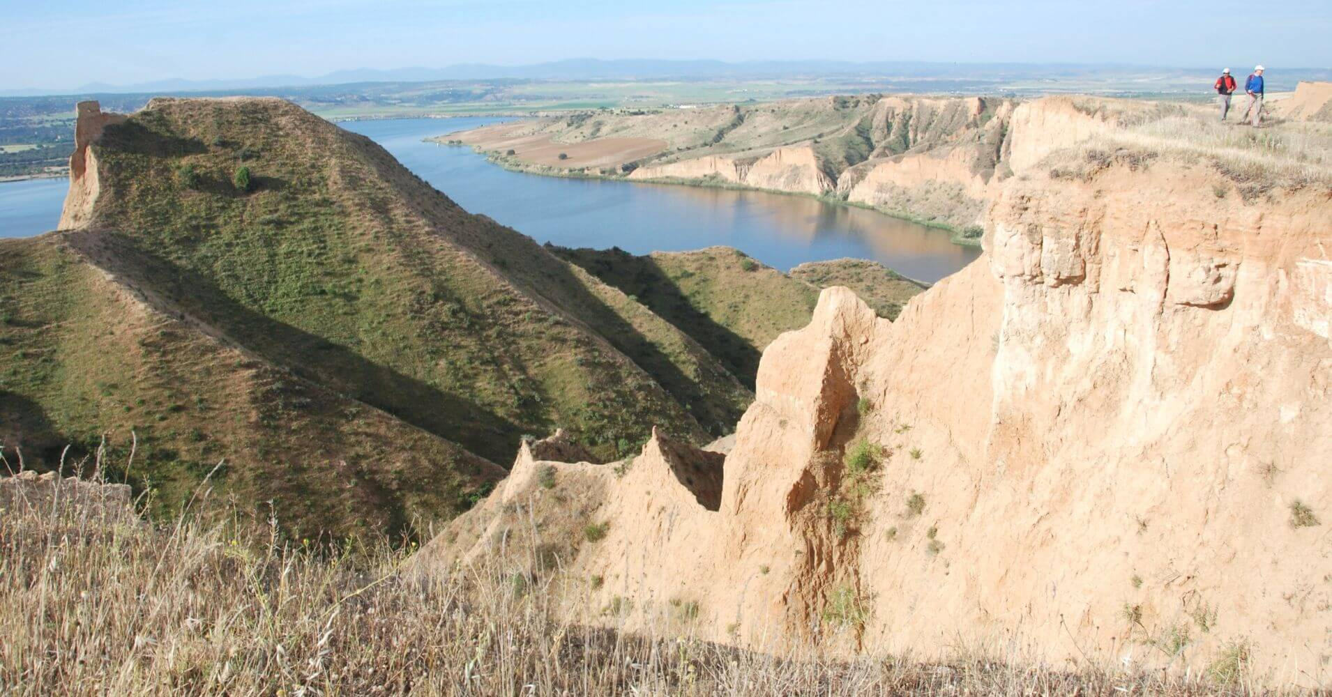 Ruta Senderismo del borde de las Barrancas de Castrejón. Burujón. Toledo, Castilla la Mancha.