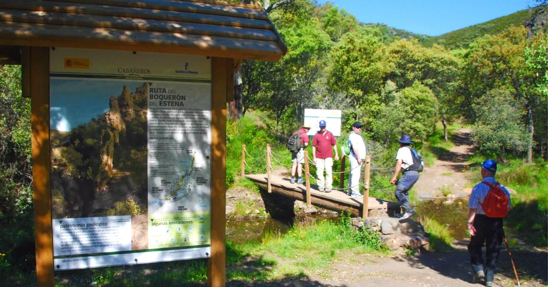 Ruta Senderismo en el Parque Nacional de Cabañeros. Castilla la Mancha.