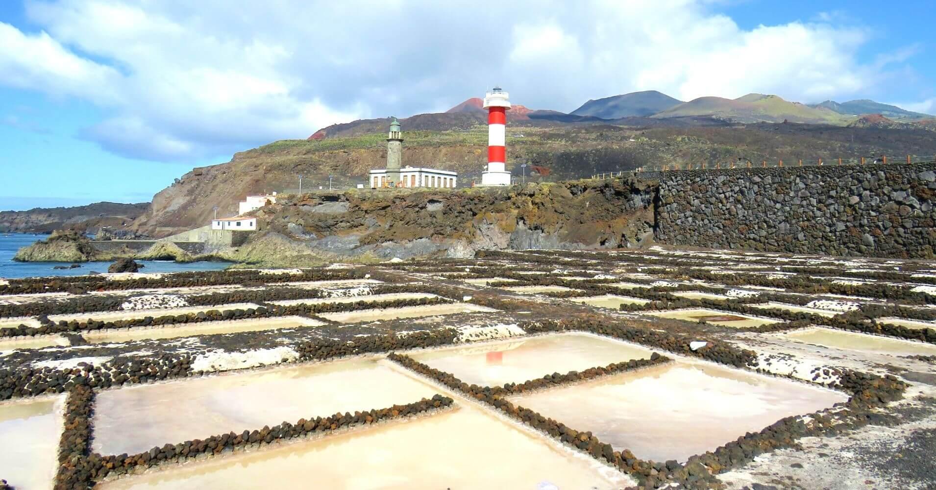 Salinas de Fuencaliente. Isla de La Palma en Invierno. Islas Canarias.