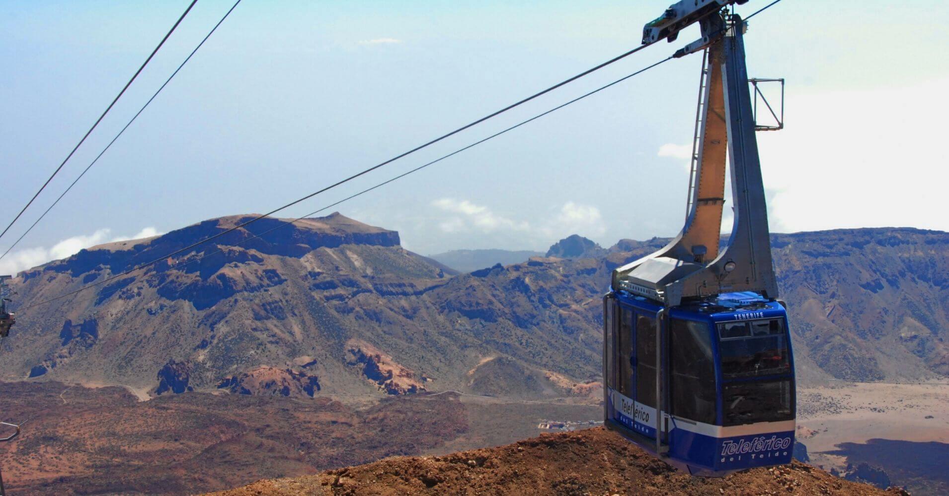 Teleférico del Parque Nacional de la Cañadas del Teide. Isla de Tenerife, Islas Canarias.