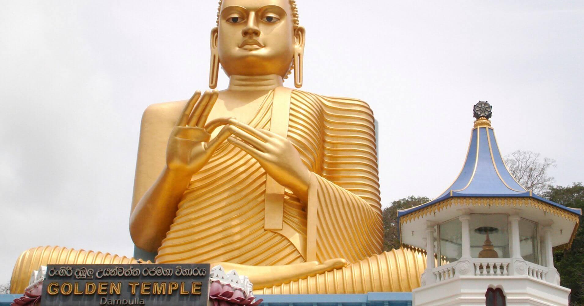 Templo de Oro, Cueva de Dambulla. Sri Lanka.