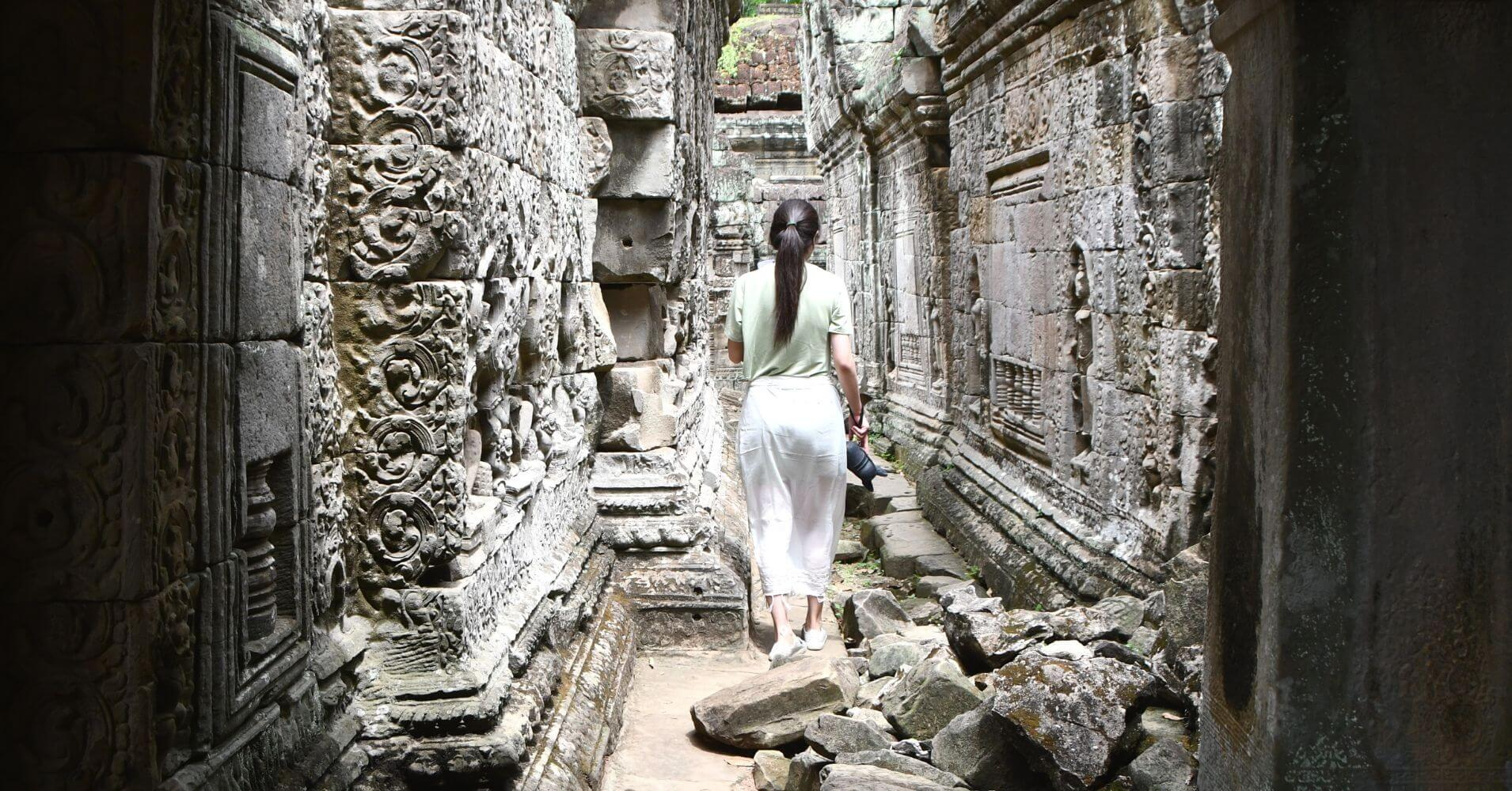 Templo Preah Khan, Templo de la Espada Sagrada. Siem Reap. Camboya.