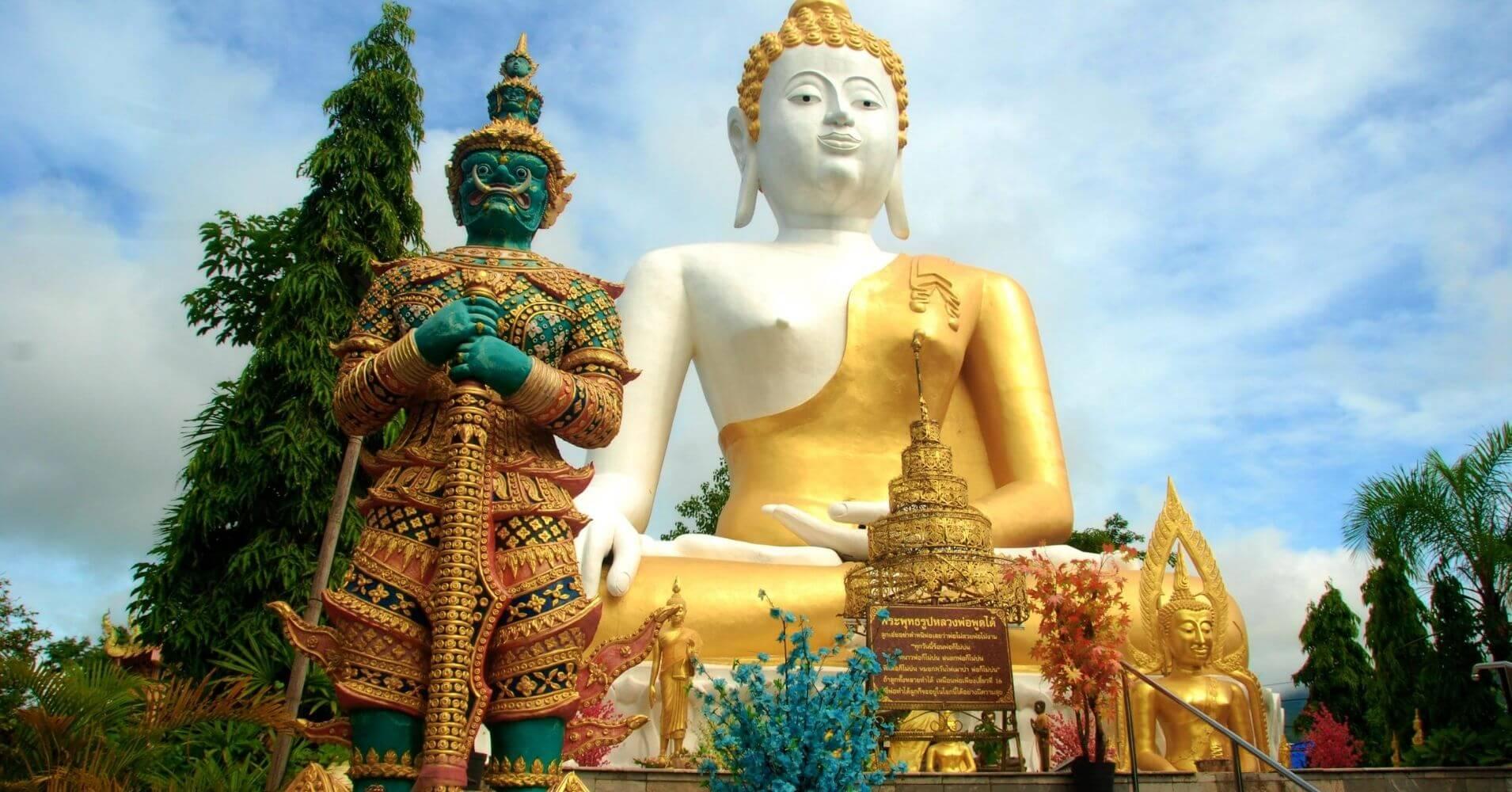 Templo Wat Phra That Doi Kham. Chiang Mai.