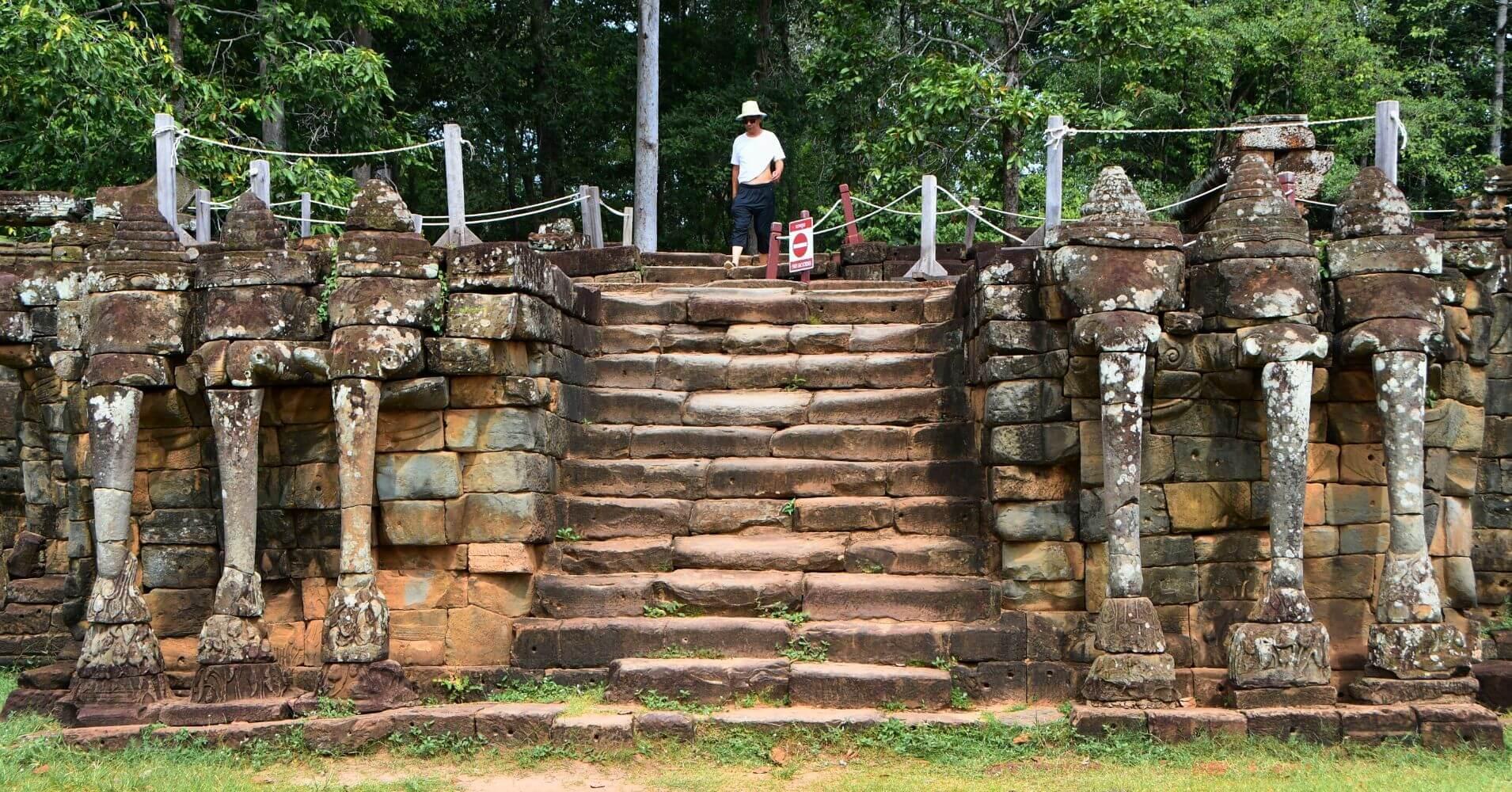 Terraza de los Elefantes. Siem Reap, Camboya.