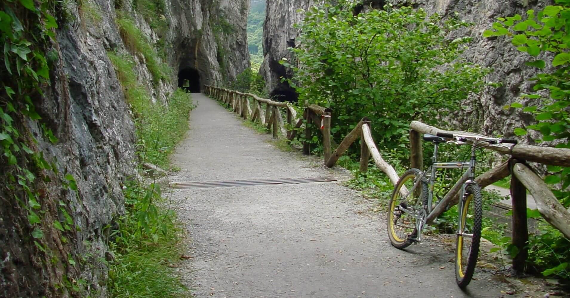 Túneles de Peñas Juntas. Vía Verde Senda del Oso. Teverga. Asturias.